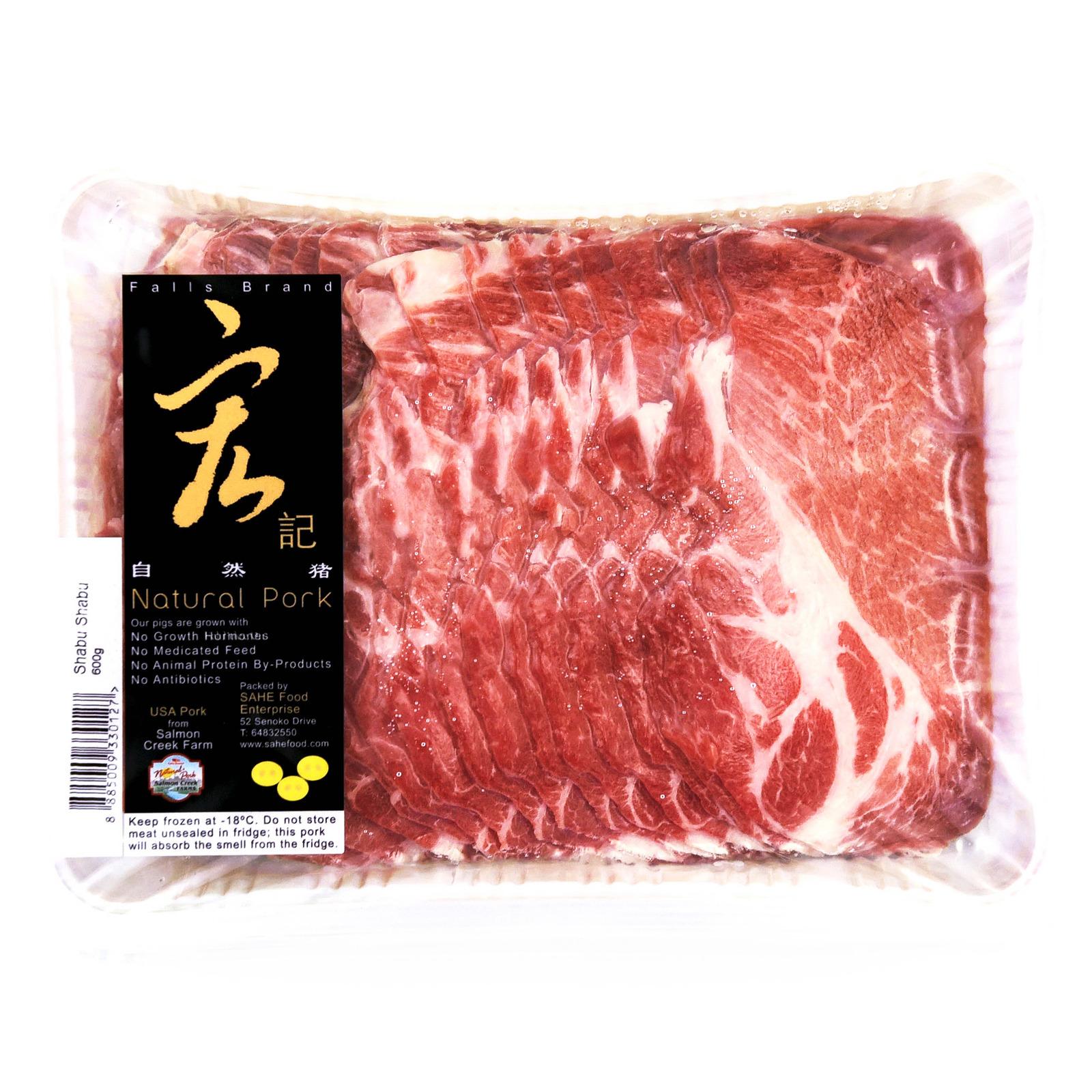 Natural Pork Frozen Shabu Shabu