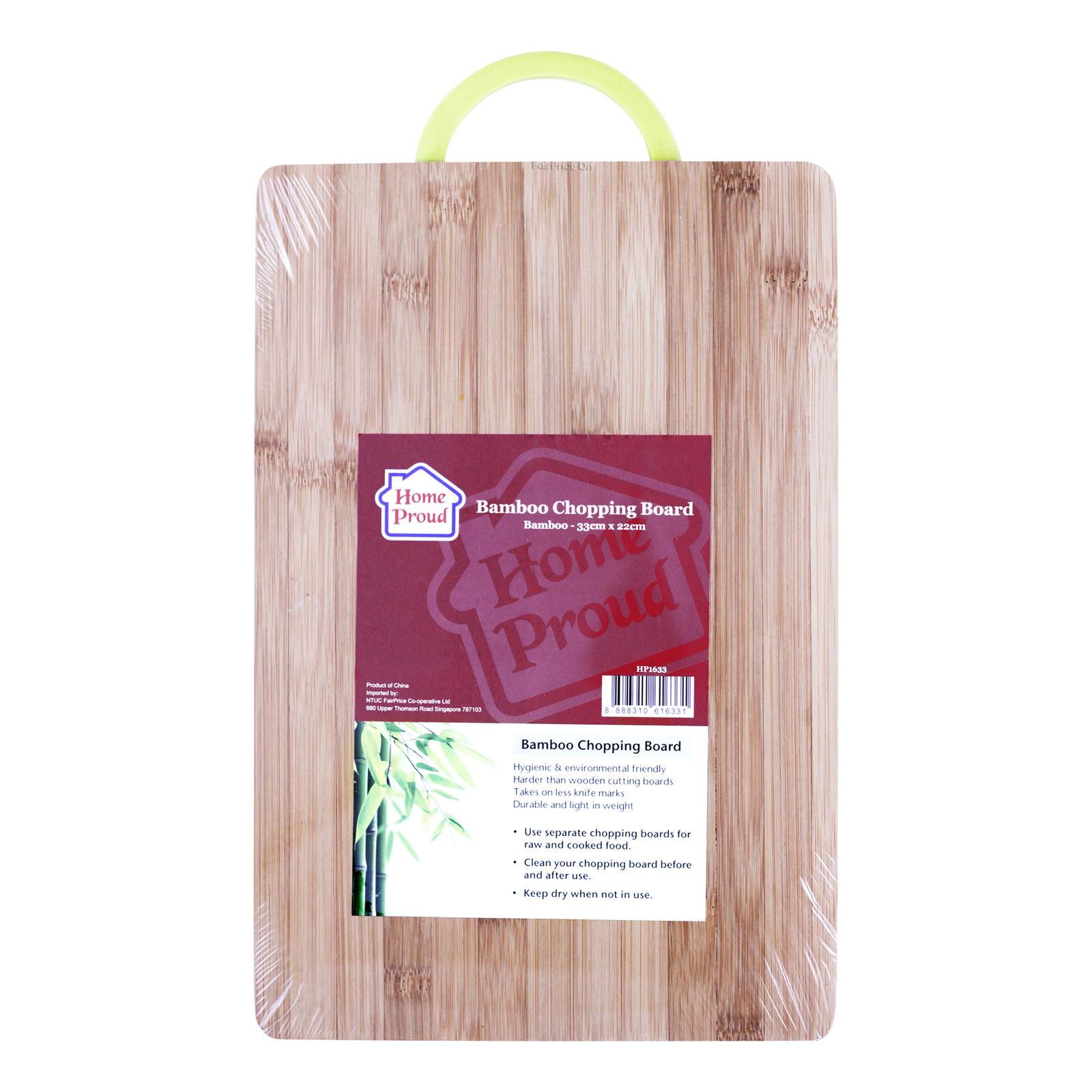 HomeProud Chopping Board - Bamboo (33 x 22cm)