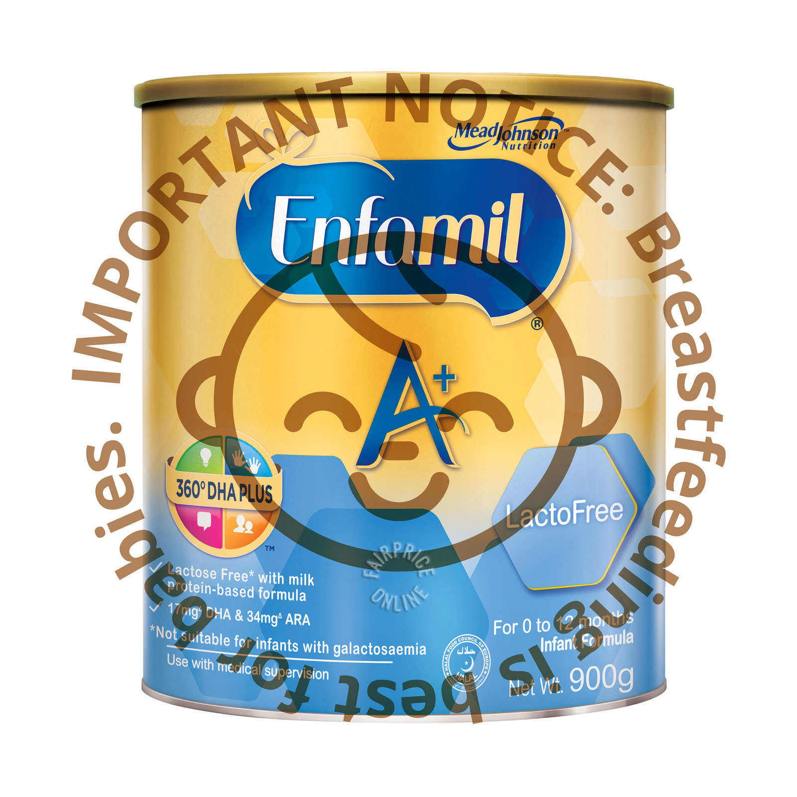Enfamil A+ Infant Milk Powder Formula-Lacto Free (0 - 12 months)
