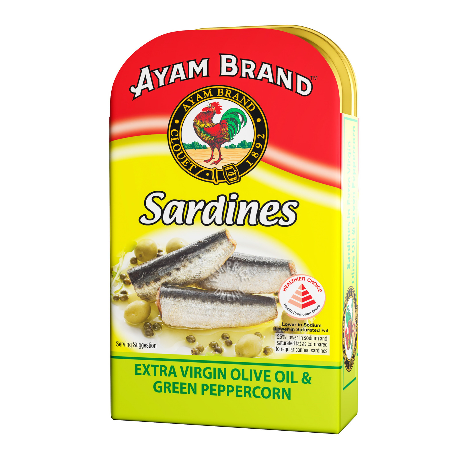Ayam Brand Sardines - Extra Virgin Olive Oil & Green Peppercorn