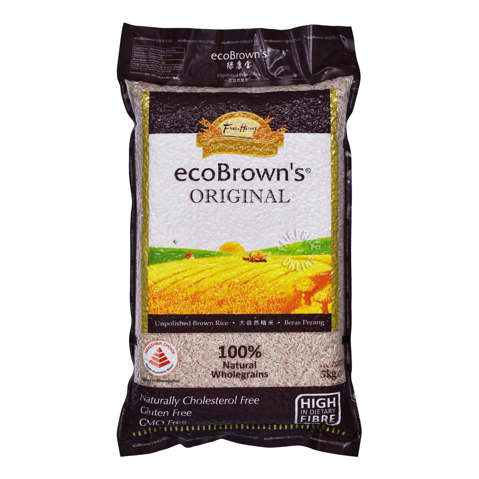 EcoBrown's Unpolished Brown Rice - Original
