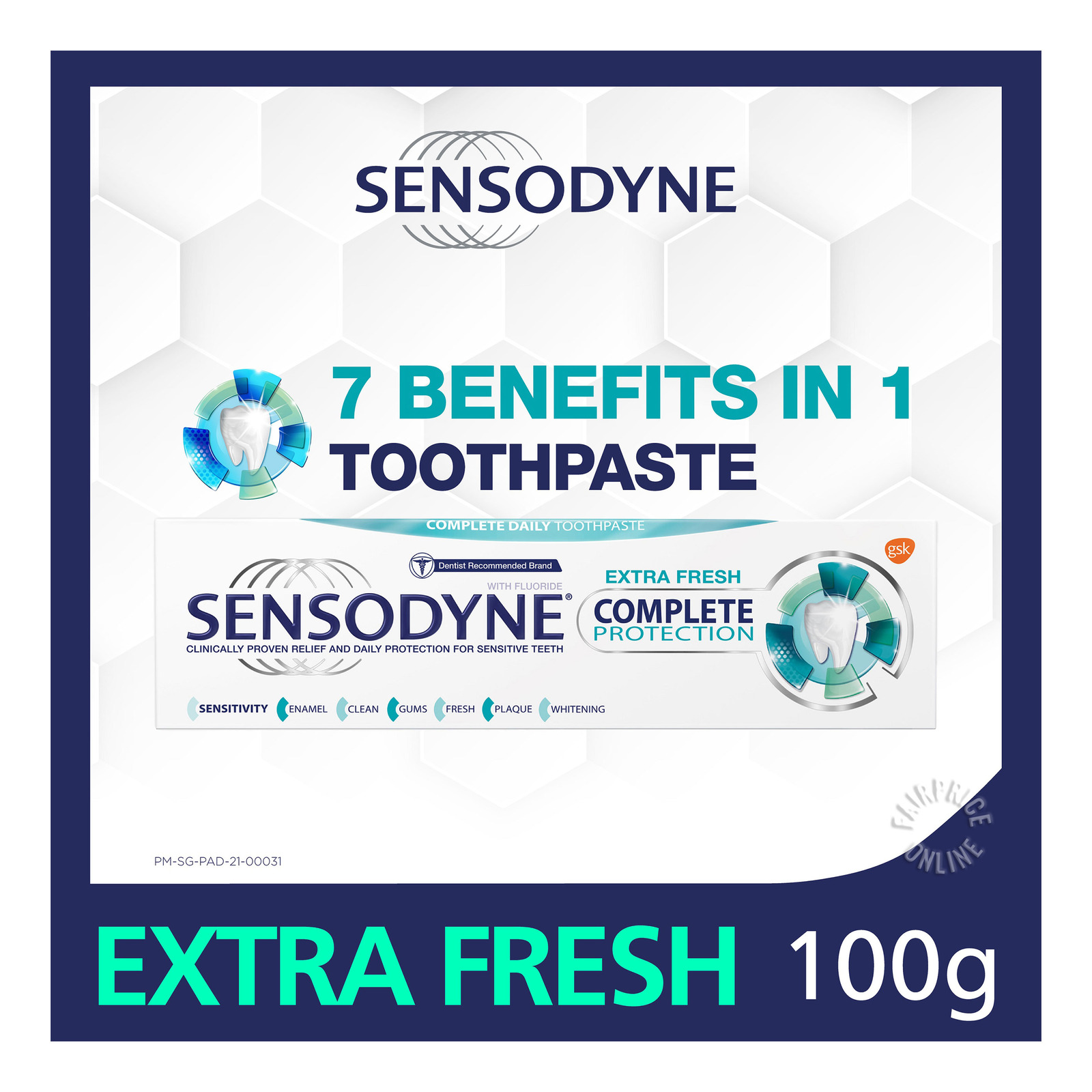 Sensodyne Toothpaste - Complete Protection (Extra Fresh)