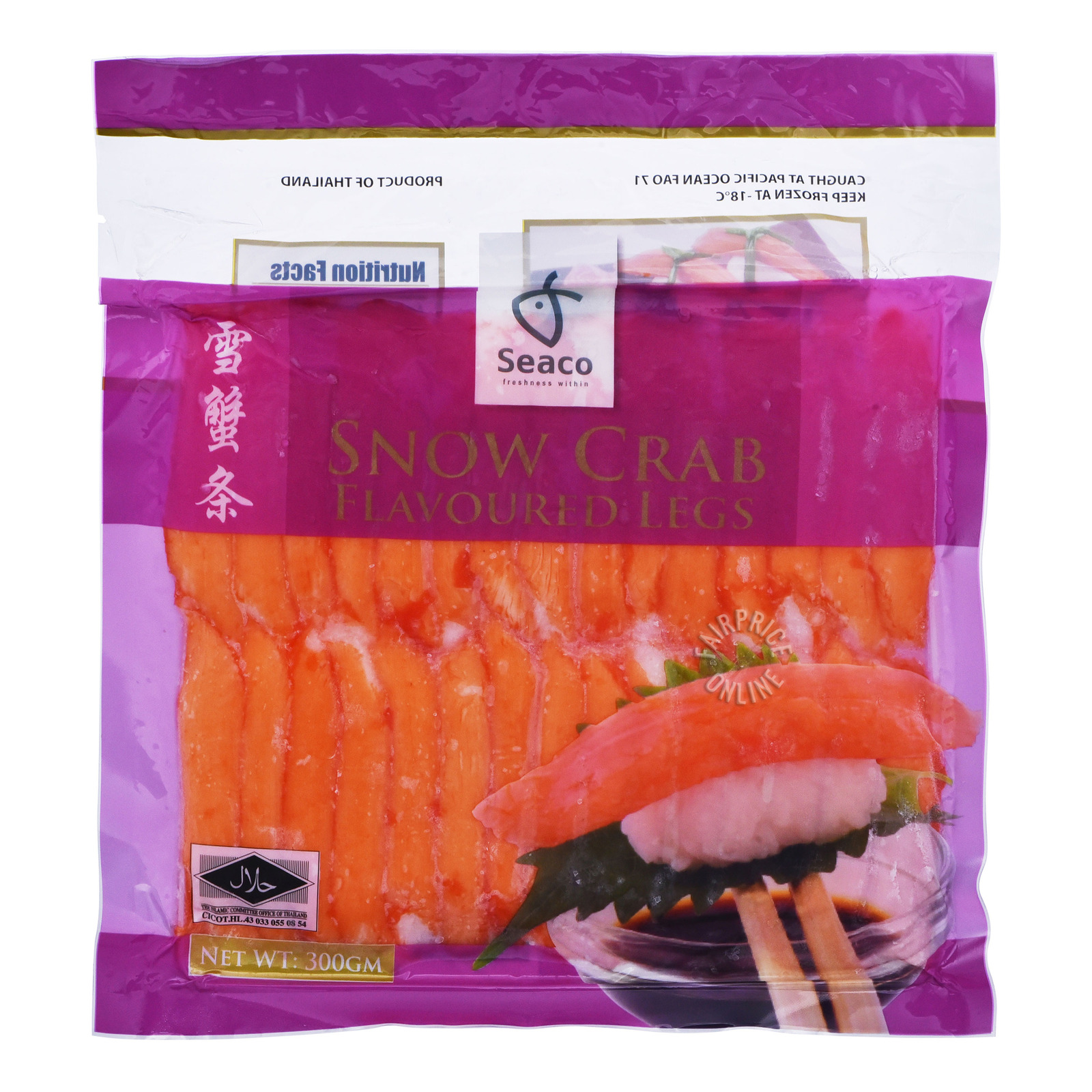 Seaco Frozen Snow Crab Flavoured Leg Meat
