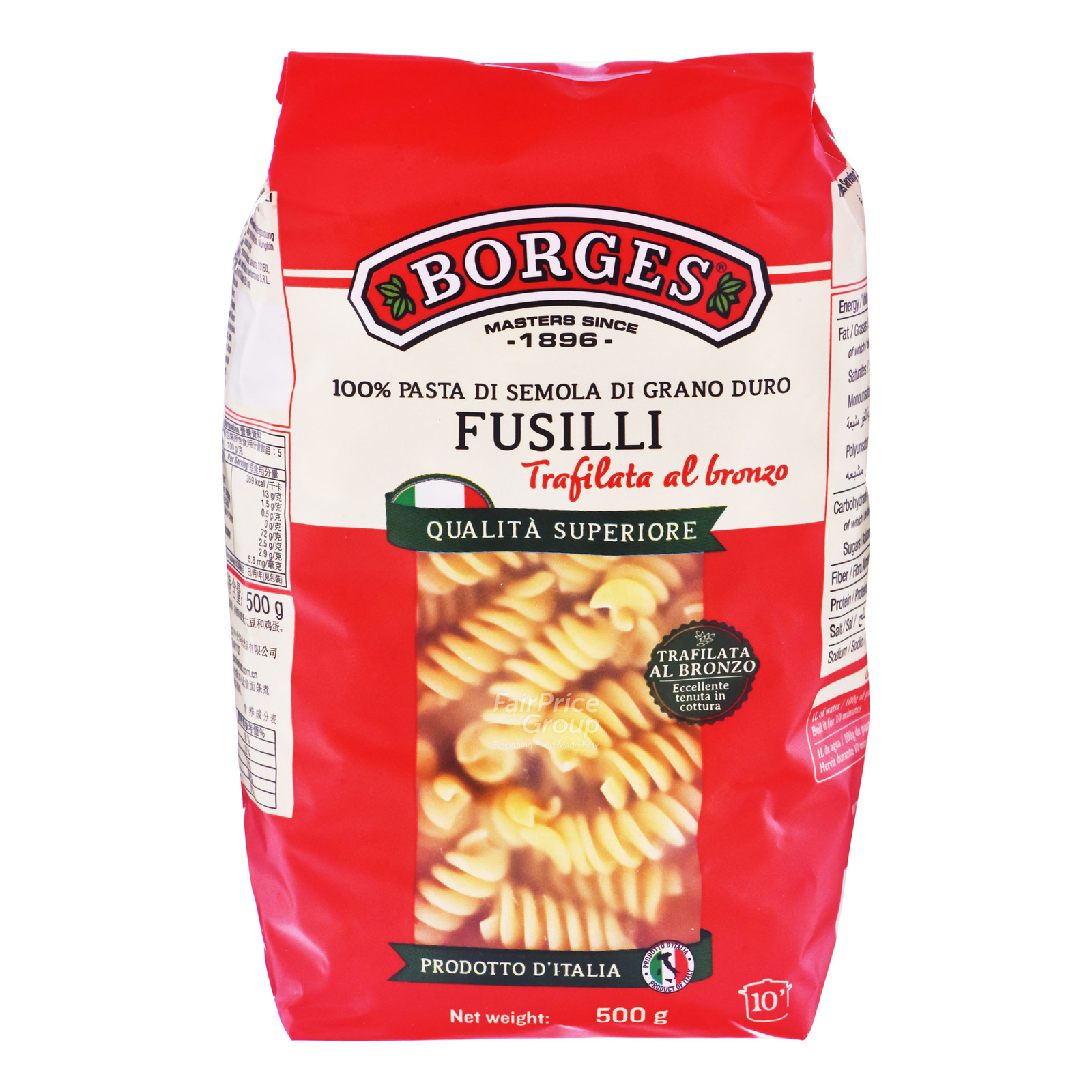 Borges Fusilli Durum Wheat Pasta