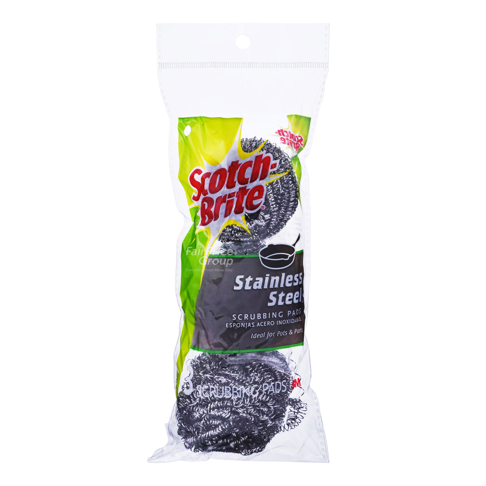 3M Scotch-Brite Scour Pads - Stainless Steel
