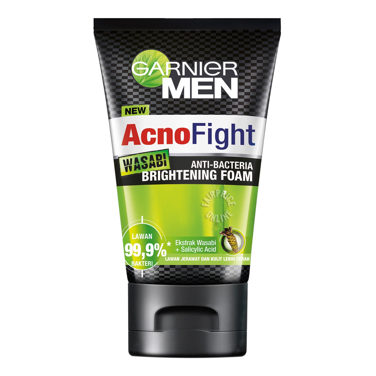 Garnier Men Acno Fight Cleanser Foam - Wasabi (Brightening)