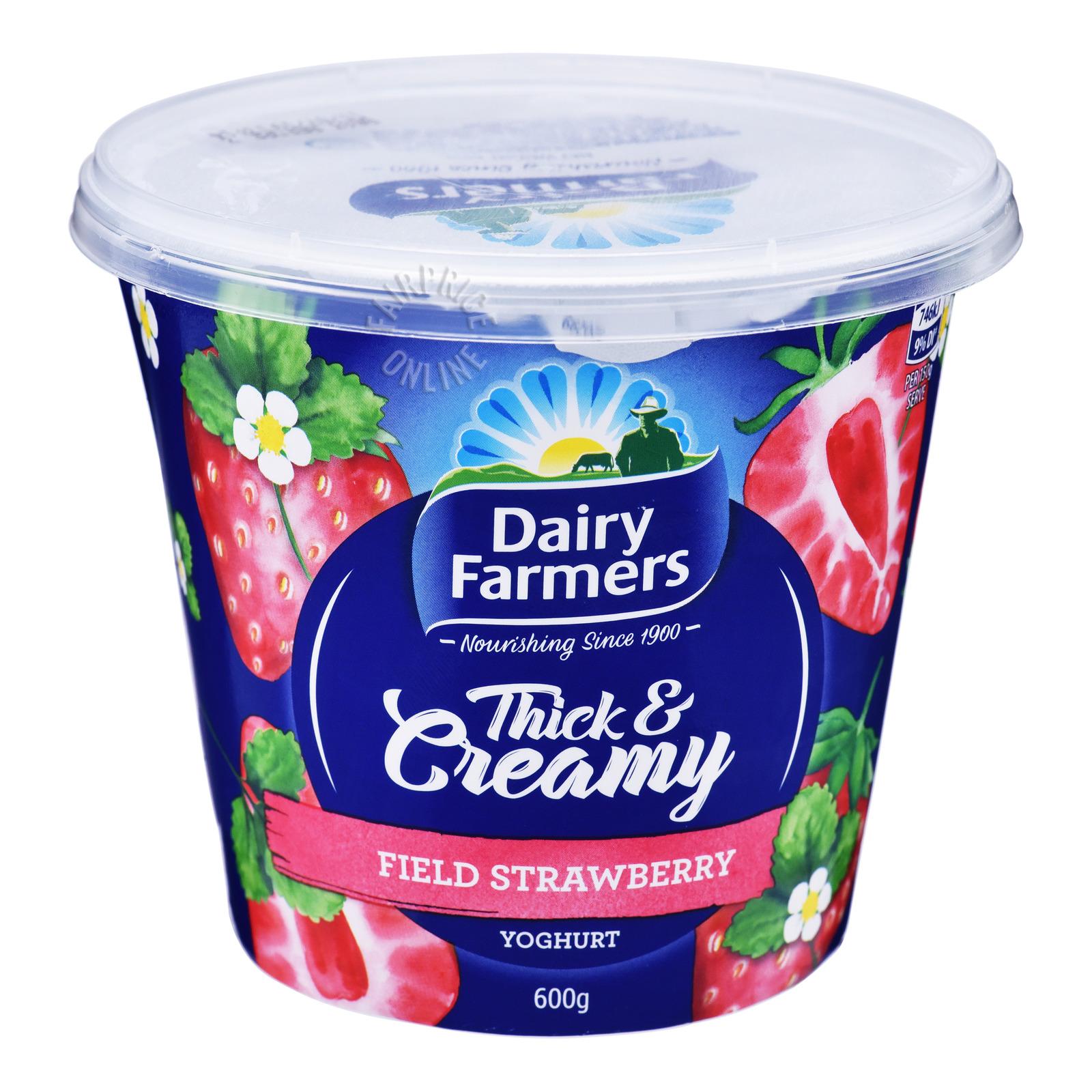 Dairy Farmers Thick & Creamy Yoghurt - Field Strawberries