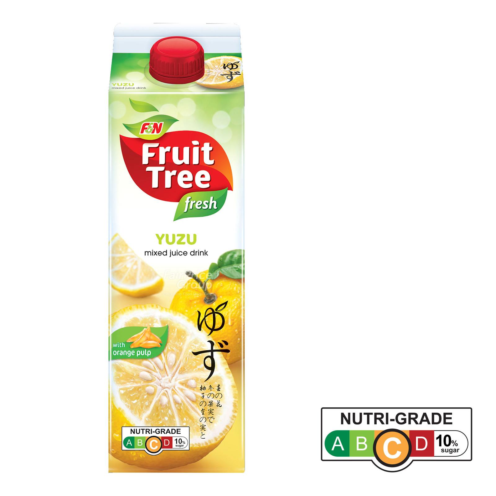 F&N Fruit Tree Fresh Juice - Yuzu with Orange Pulp