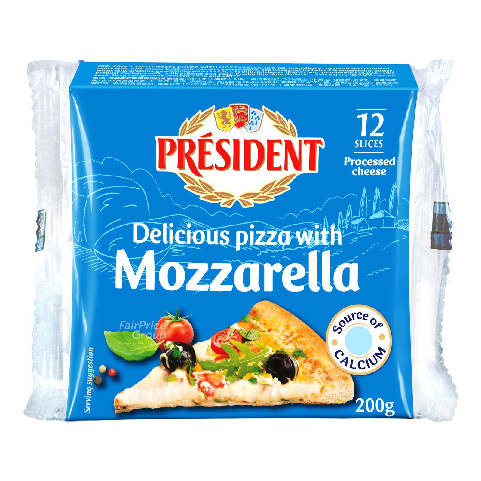 President Cheese Slices - Pizza Mozzarella