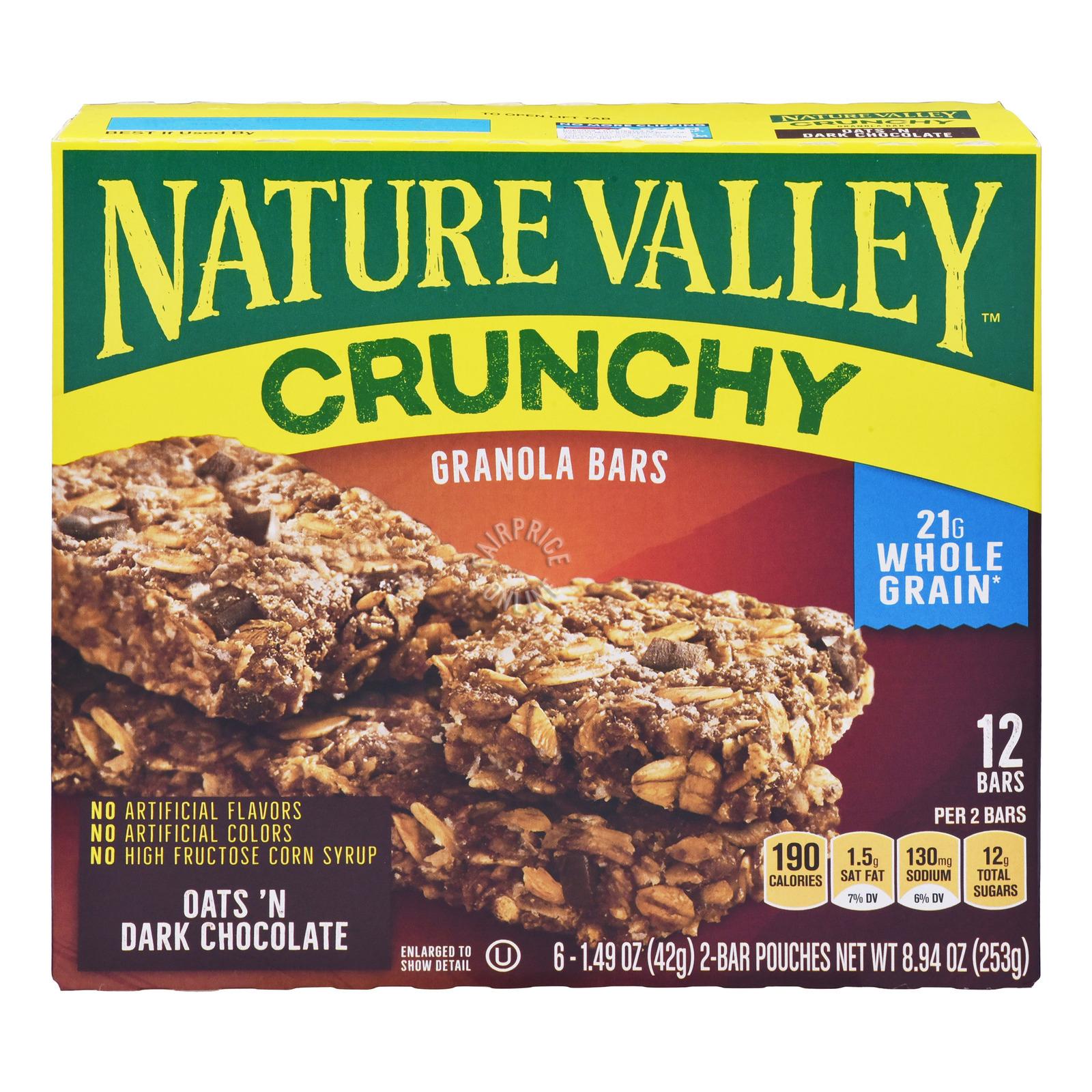 Nature Valley Crunchy Granola Bar - Oats 'n Dark Chocolate