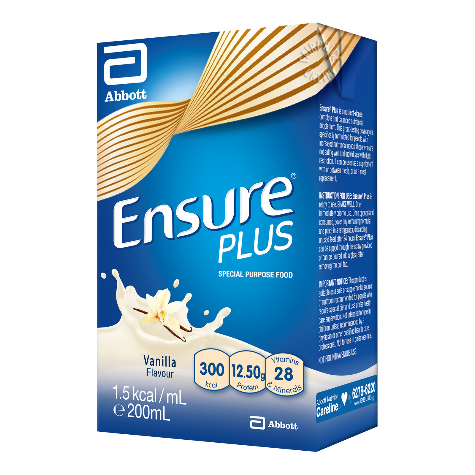 Abbott Ensure Plus Packet Milk - Vanilla