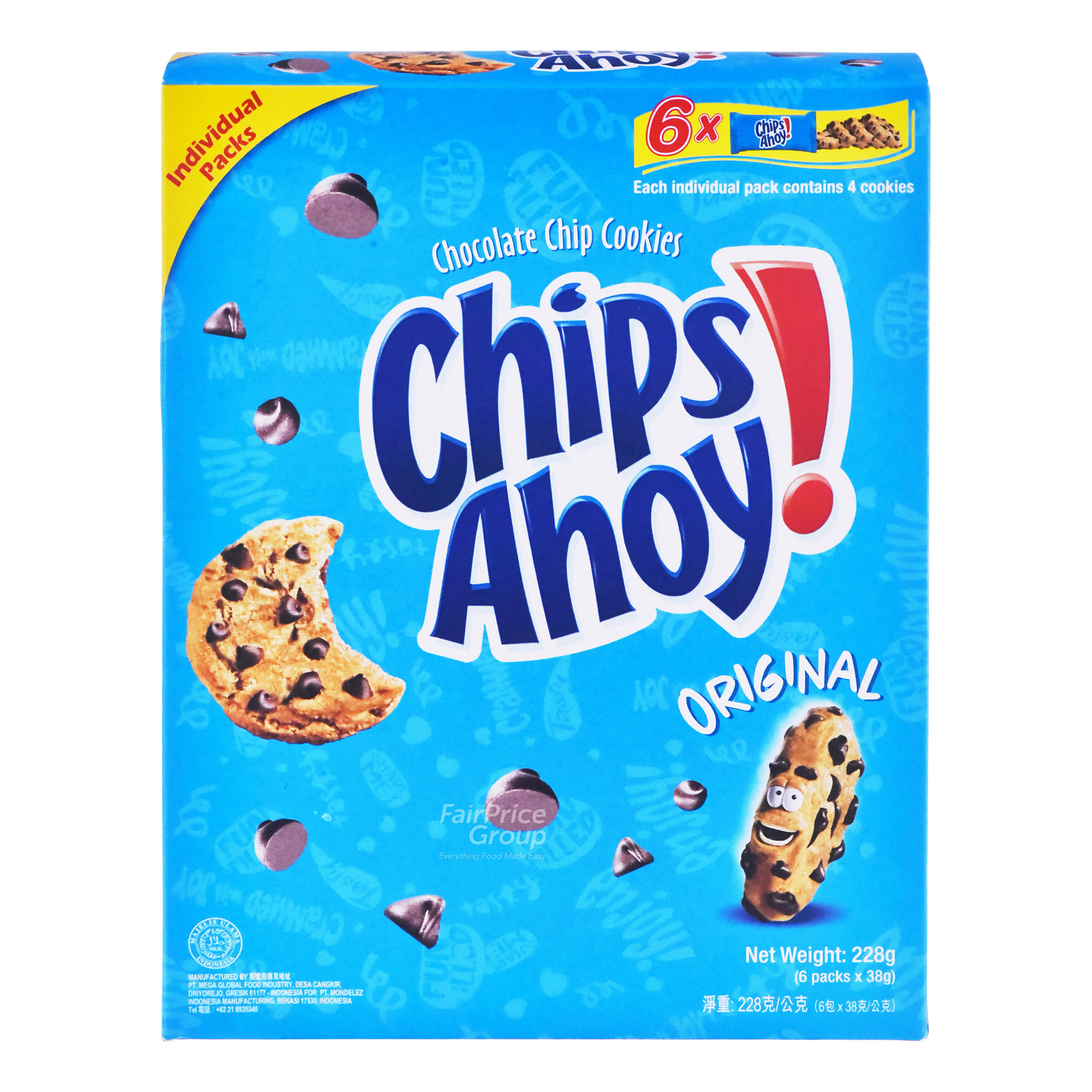 CHIPS AHOY Chocolate Chips Cookies - Original 6sX38g