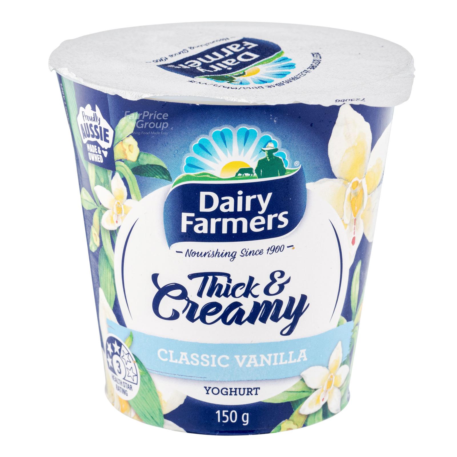 DAIRY FARMERS Yoghurt Thick & Creamy Classic Vanilla 150g