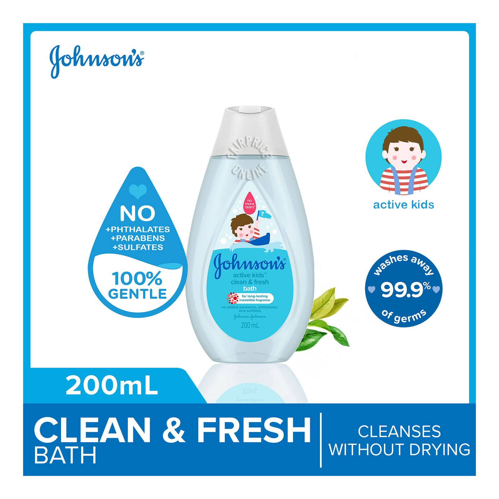 JOHNSONS BABY b active fresh bath 200ml