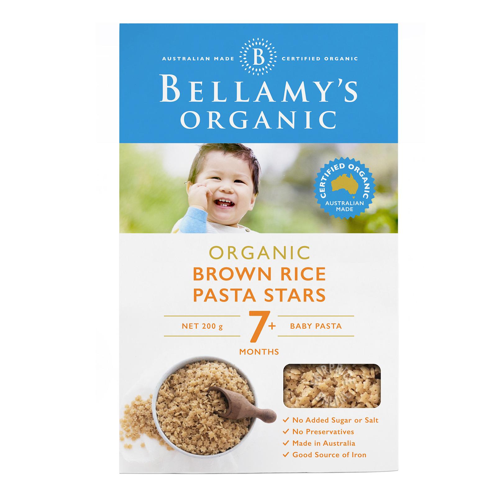 Bellamy's Organic Baby Pasta - Brown Rice Stars