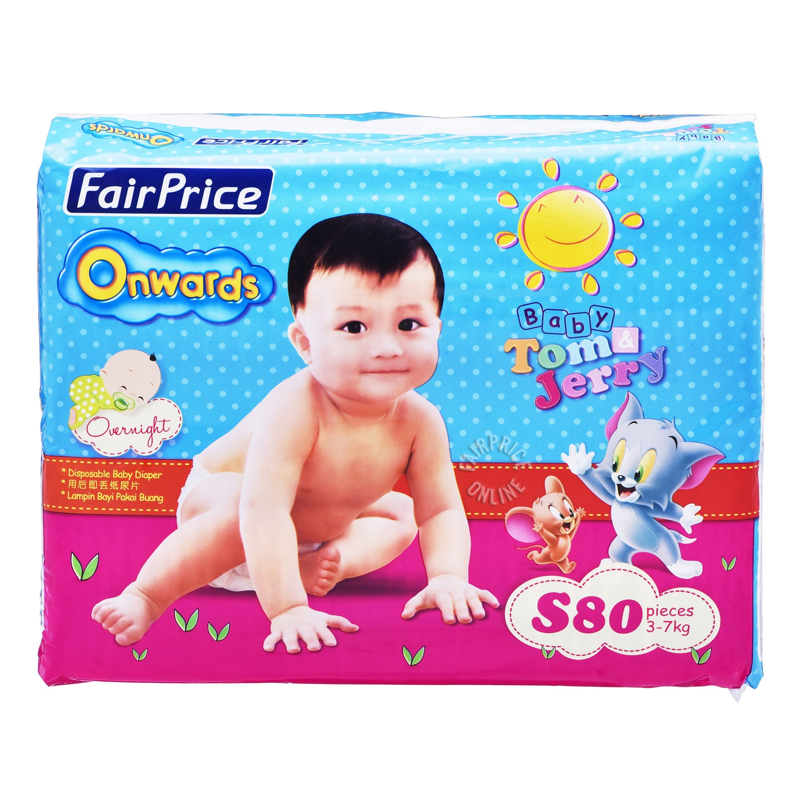 FairPrice Onwards Baby Diapers - S (3 - 7kg)