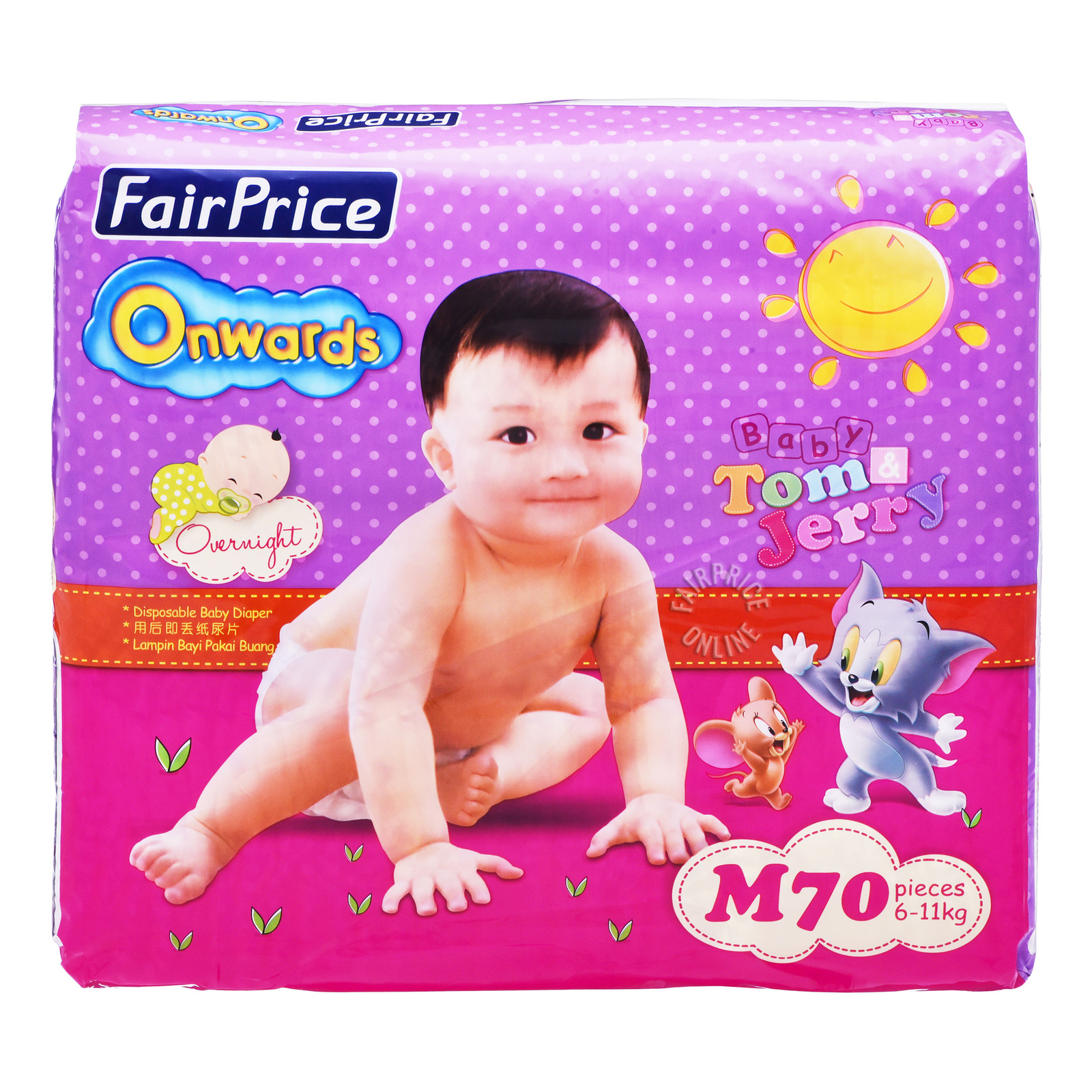FairPrice Onwards Baby Diapers - M (6 - 11kg)