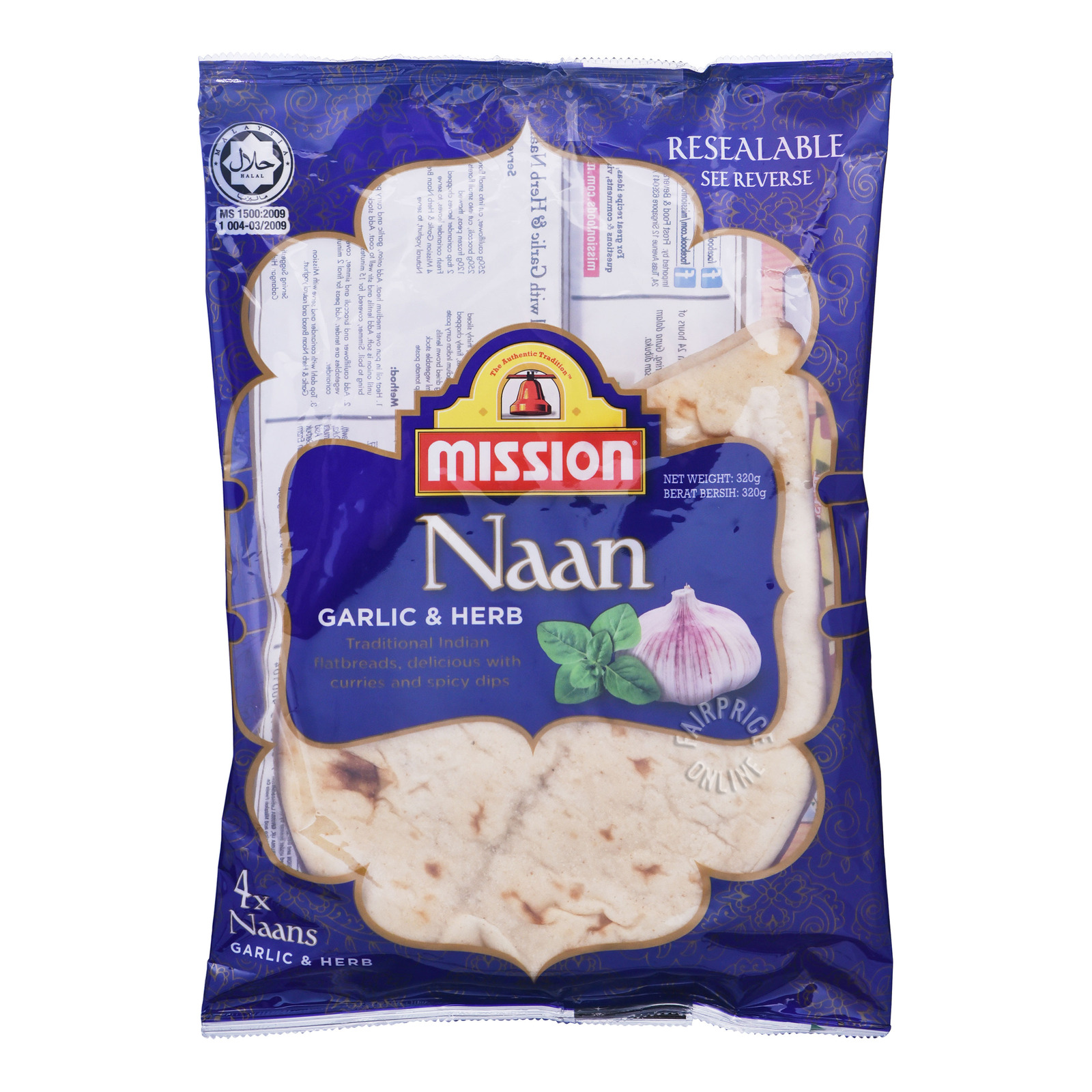 Mission Naan - Garlic & Herbs