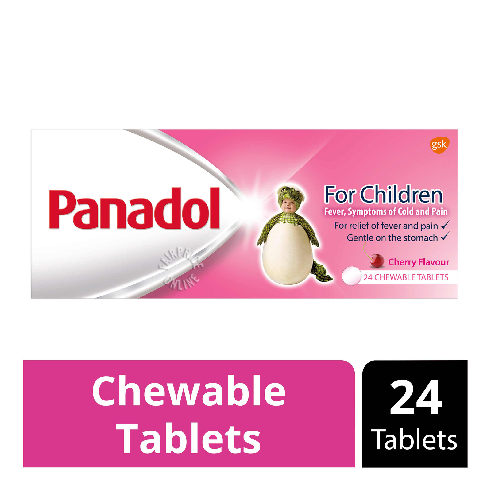 Panadol Children's Chewable Tablets - Cherry