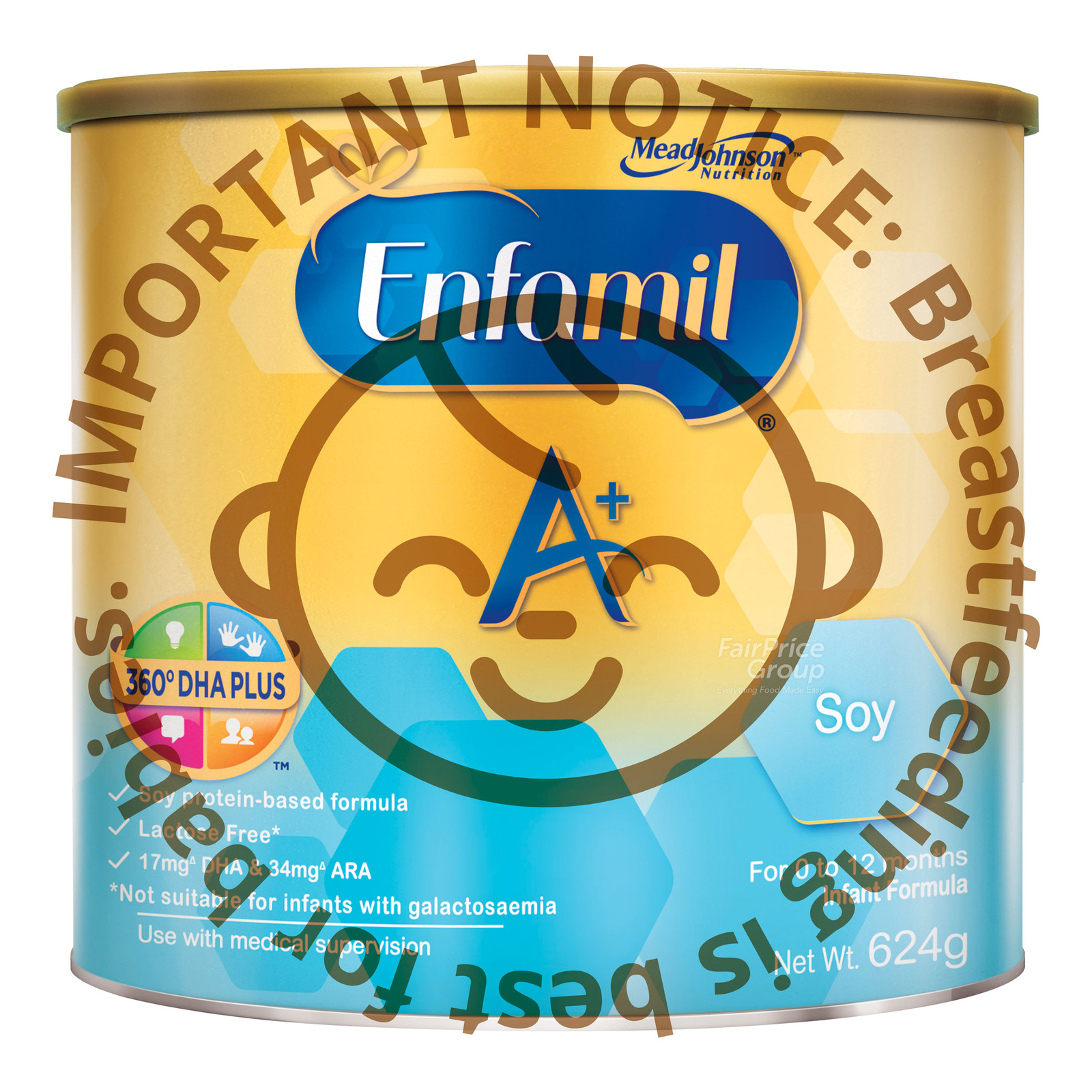 Enfamil A+ Infant Milk Powder Formula - Soy (0 - 12 months)