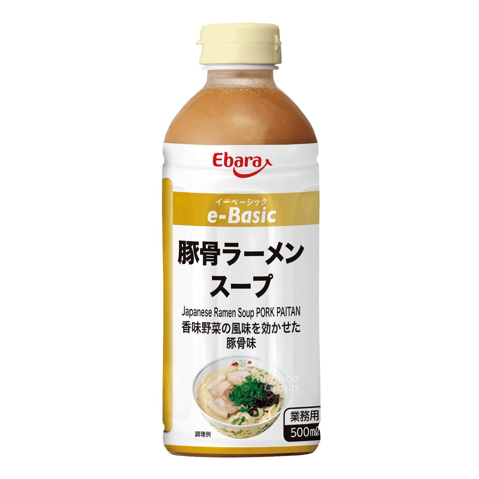 Ebara E-Basic Ramen Bottle Soup Base - Pork Ribs