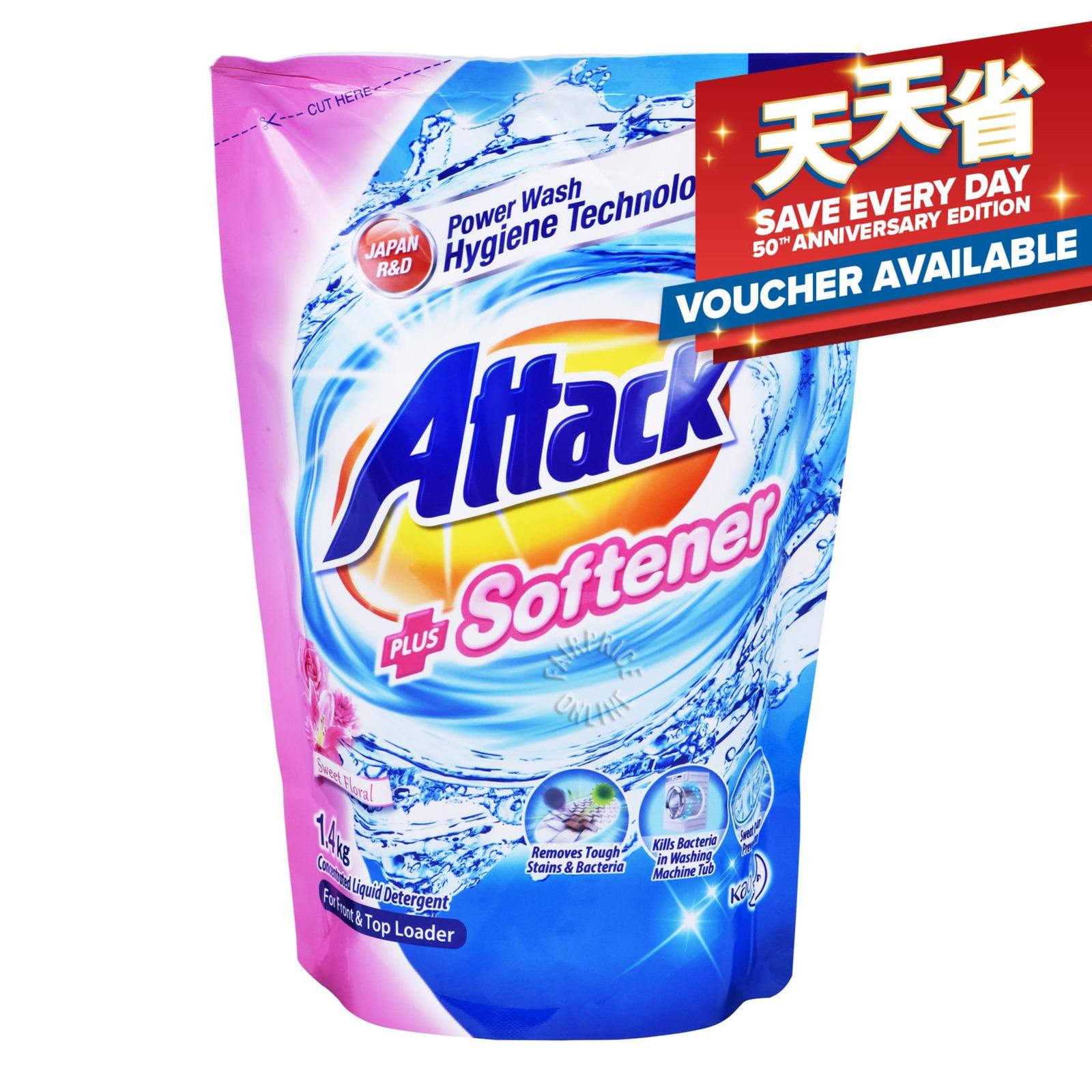 Attack Liquid Detergent Refill - Plus Softener