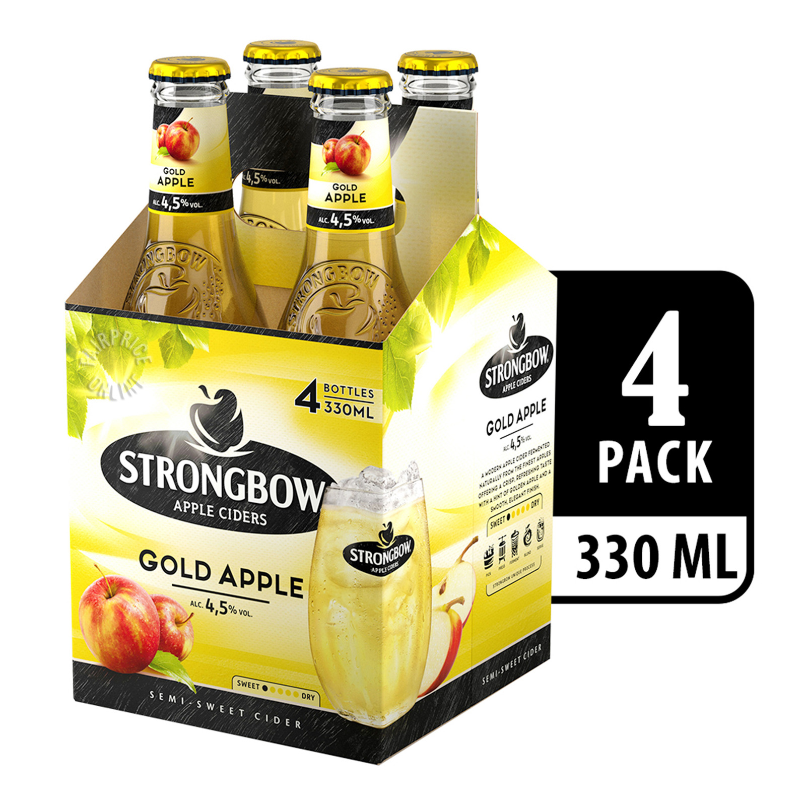 Strongbow Apple Bottle Cider - Gold Apple