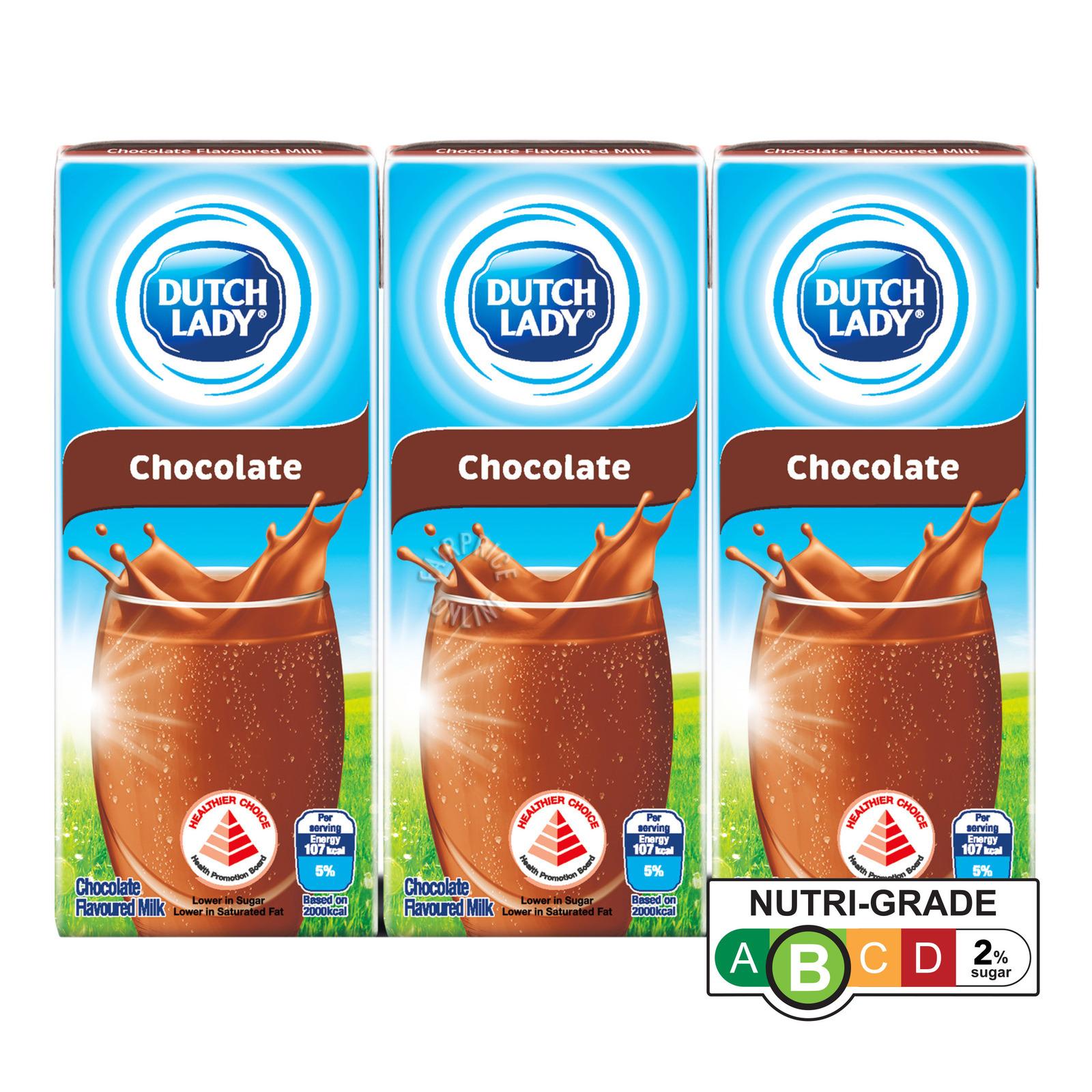 Dutch Lady Pure Farm UHT Flavoured Milk - Chocolate
