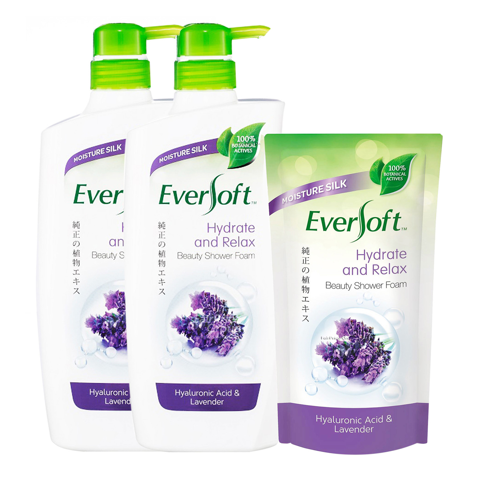 Eversoft Shower Foam + Refill - Hydrate and Relax
