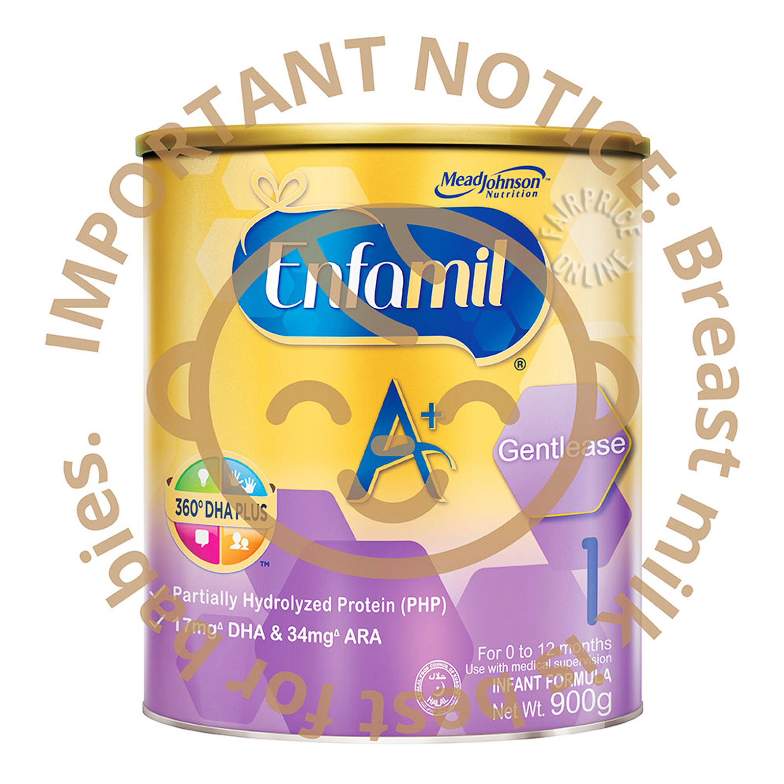 Enfamil A+ Gentlease Infant Milk Powder Formula - Stage 1