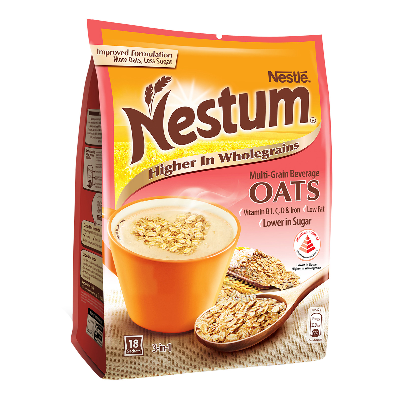 Nestle Nestum 3 in 1 Instant Cereal Milk Drink - Oats