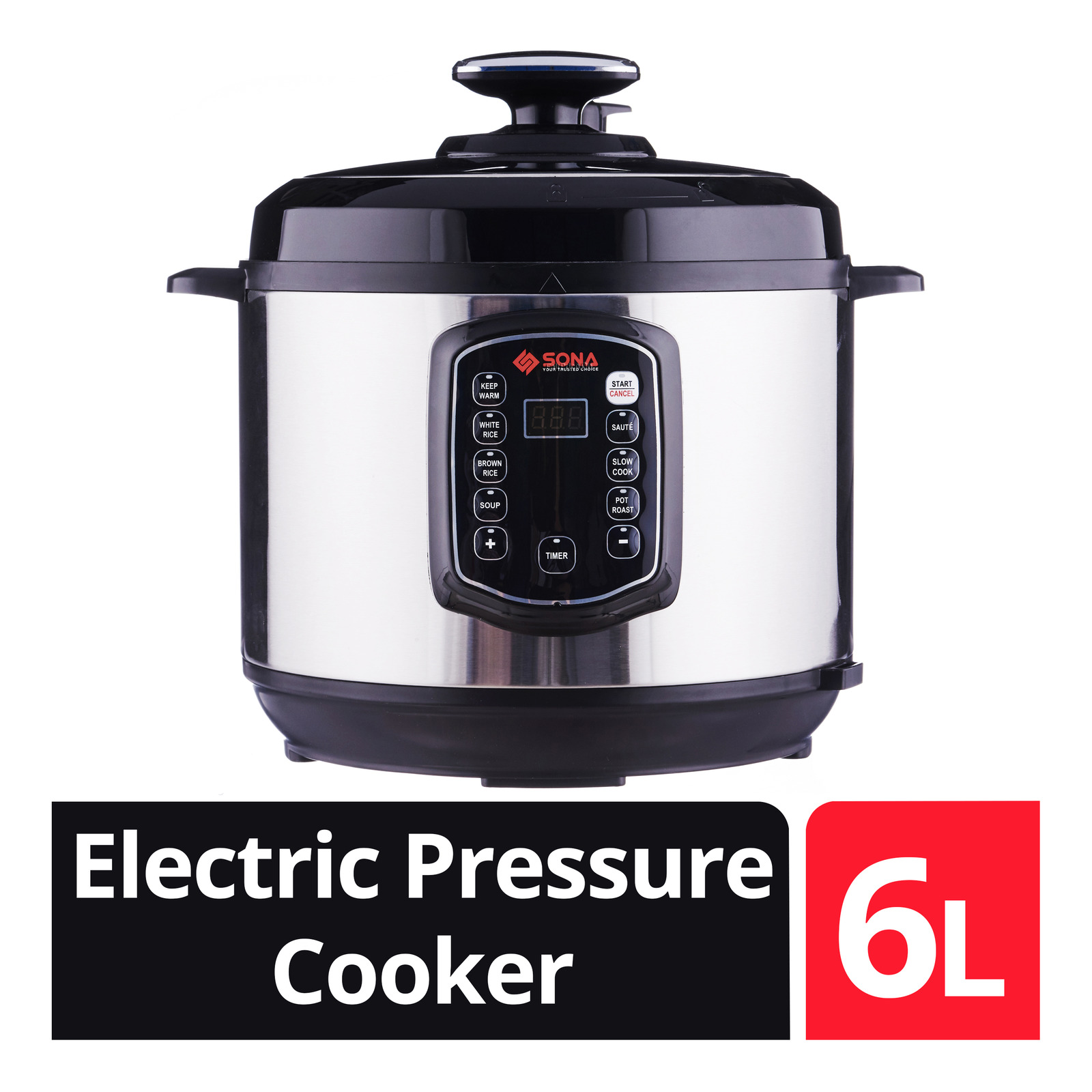Sona 6.0L Electric Pressure Cooker - SPC2501