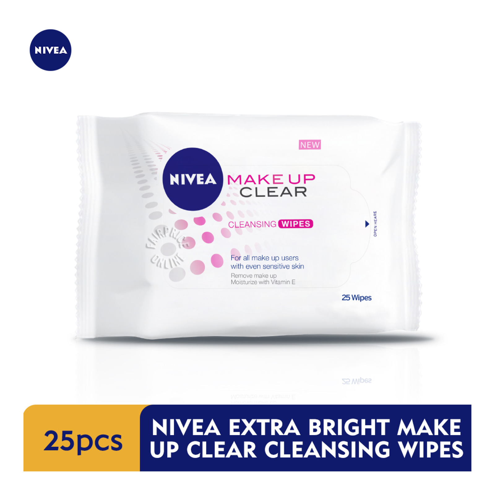 Nivea Cleansing Facial Wipes - Make Up Clear(Extra Bright)