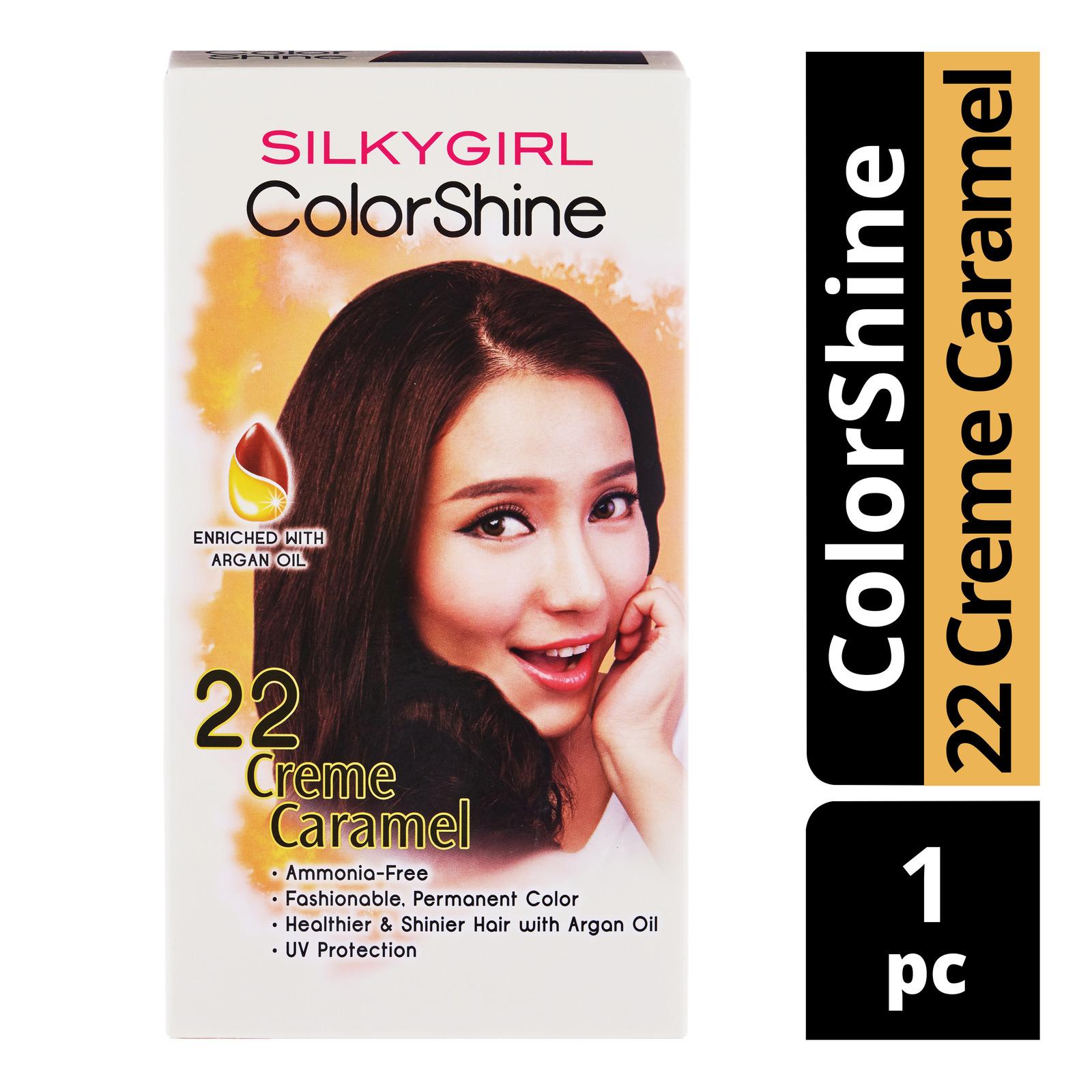 Silkygirl ColorShine Hair Colour - 22 Creme Caramel