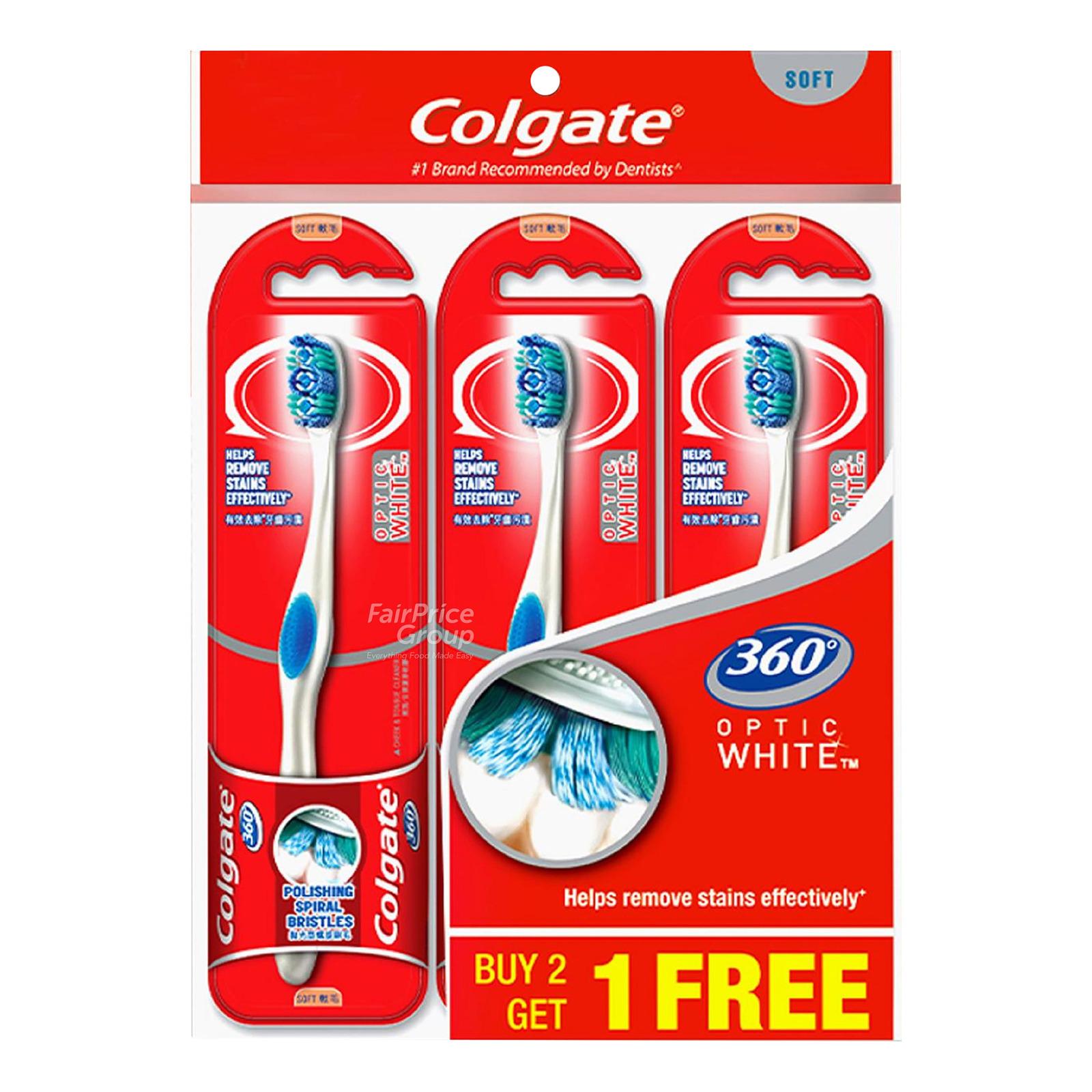 Colgate 360 Optic White Toothbrush - Soft