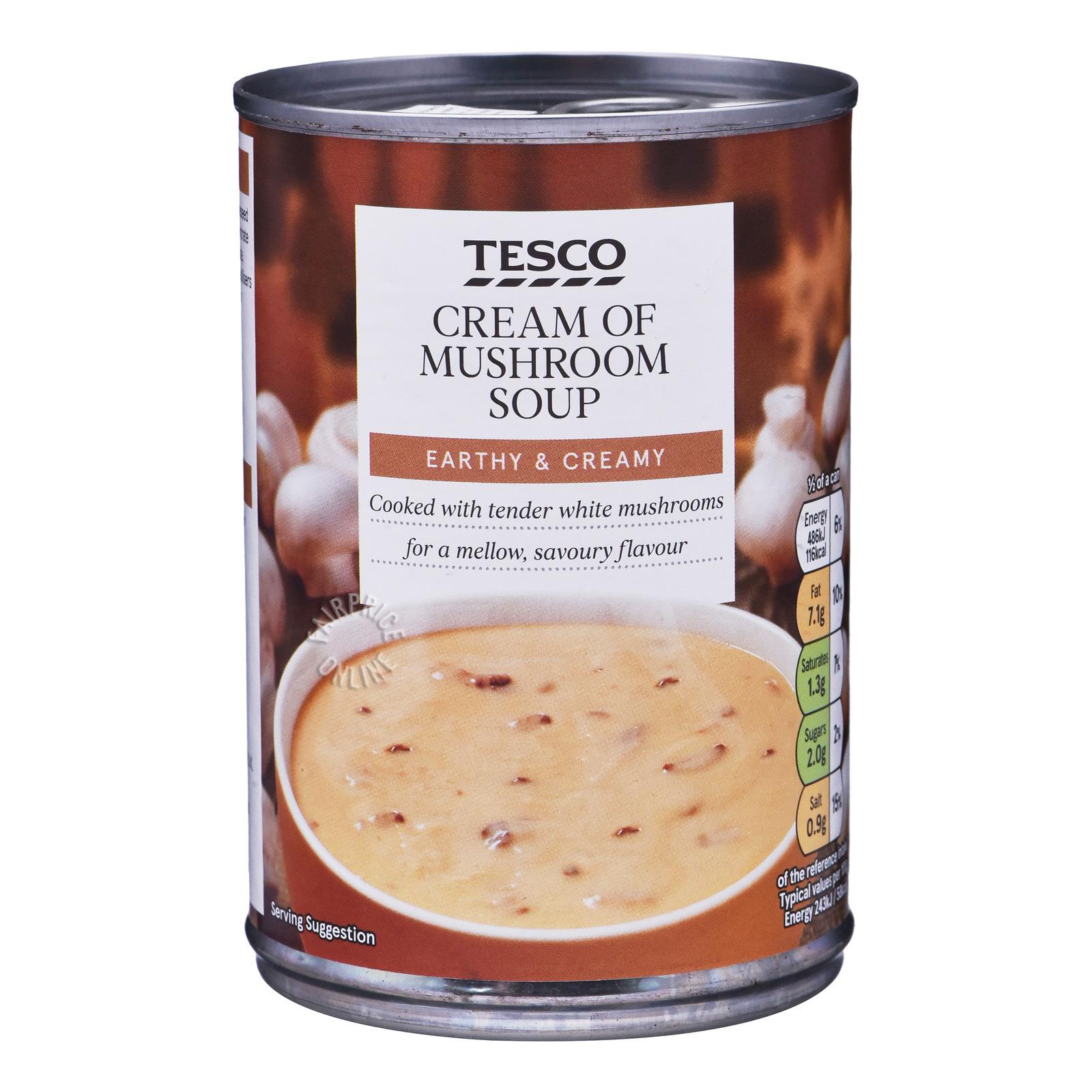 Tesco Soup - Cream of Mushroom