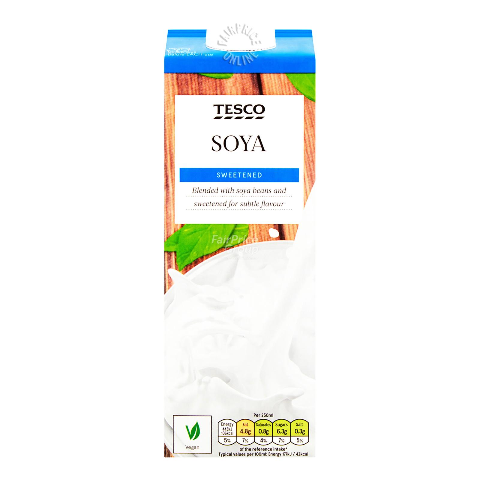 Tesco Soya Milk - Sweetened