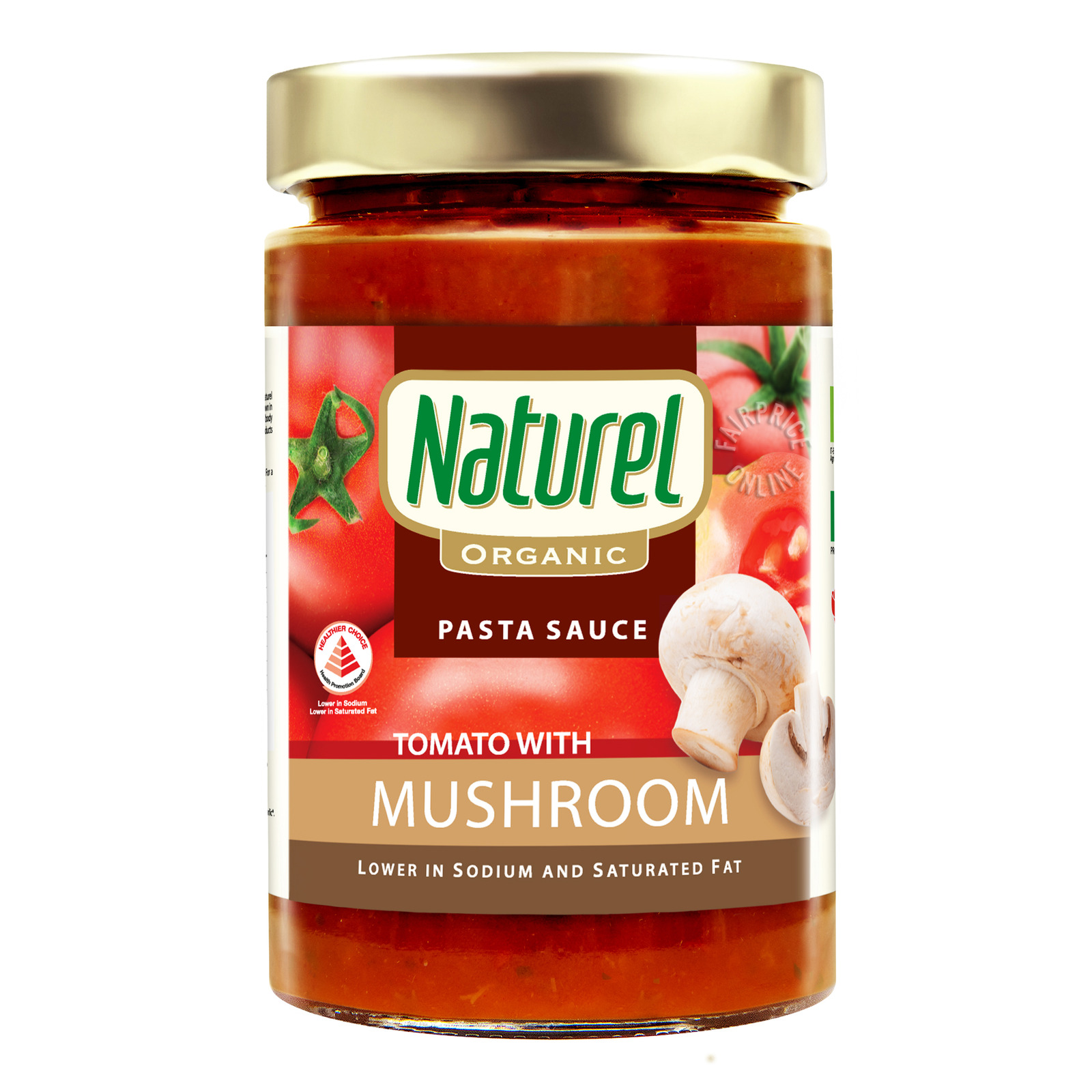 Naturel Organic Pasta Sauce - Tomato with Mushroom