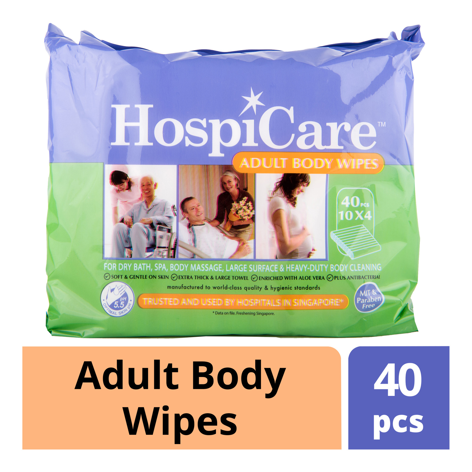 HospiCare Adult Body Wipes