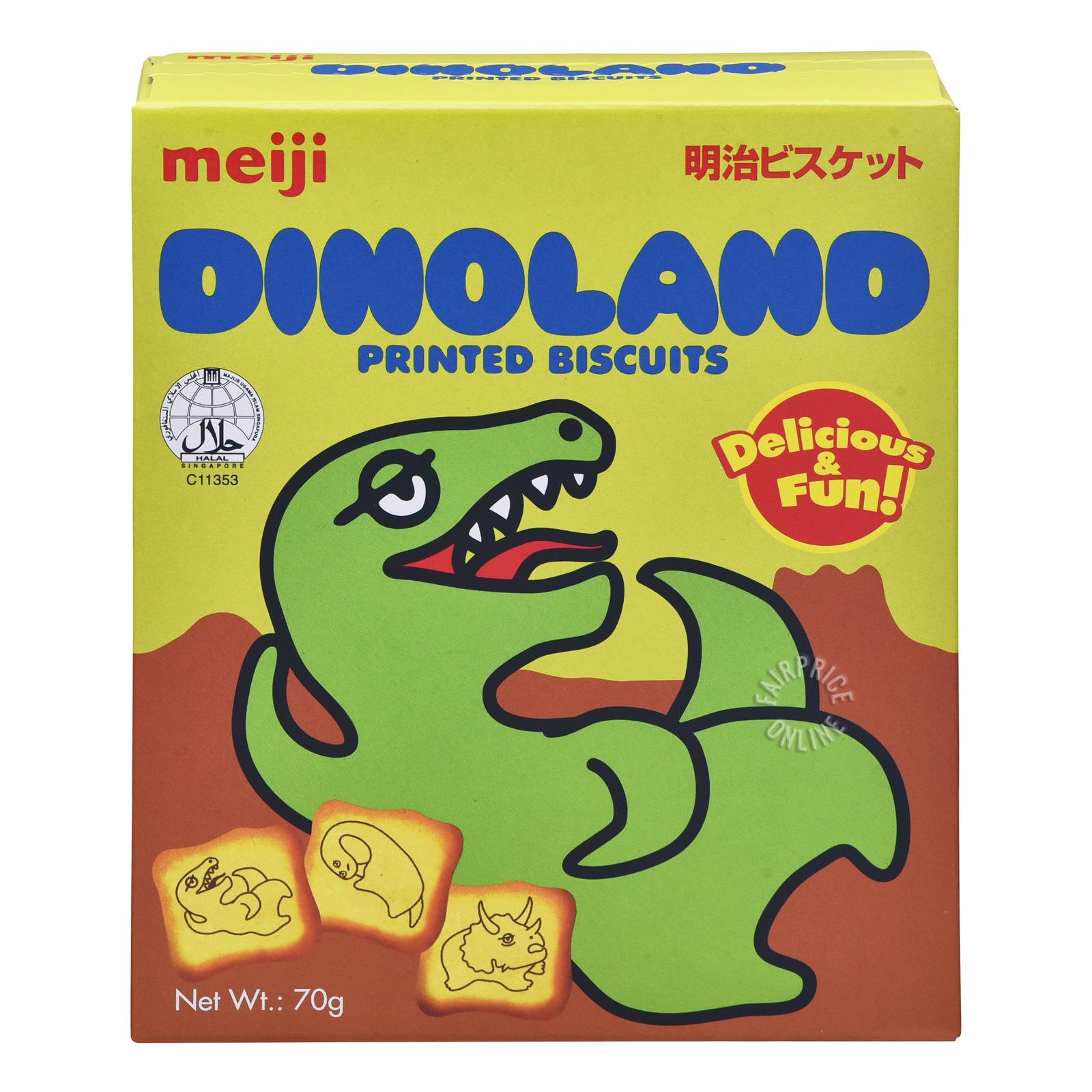 Meiji Printed Biscuits - Dinoland