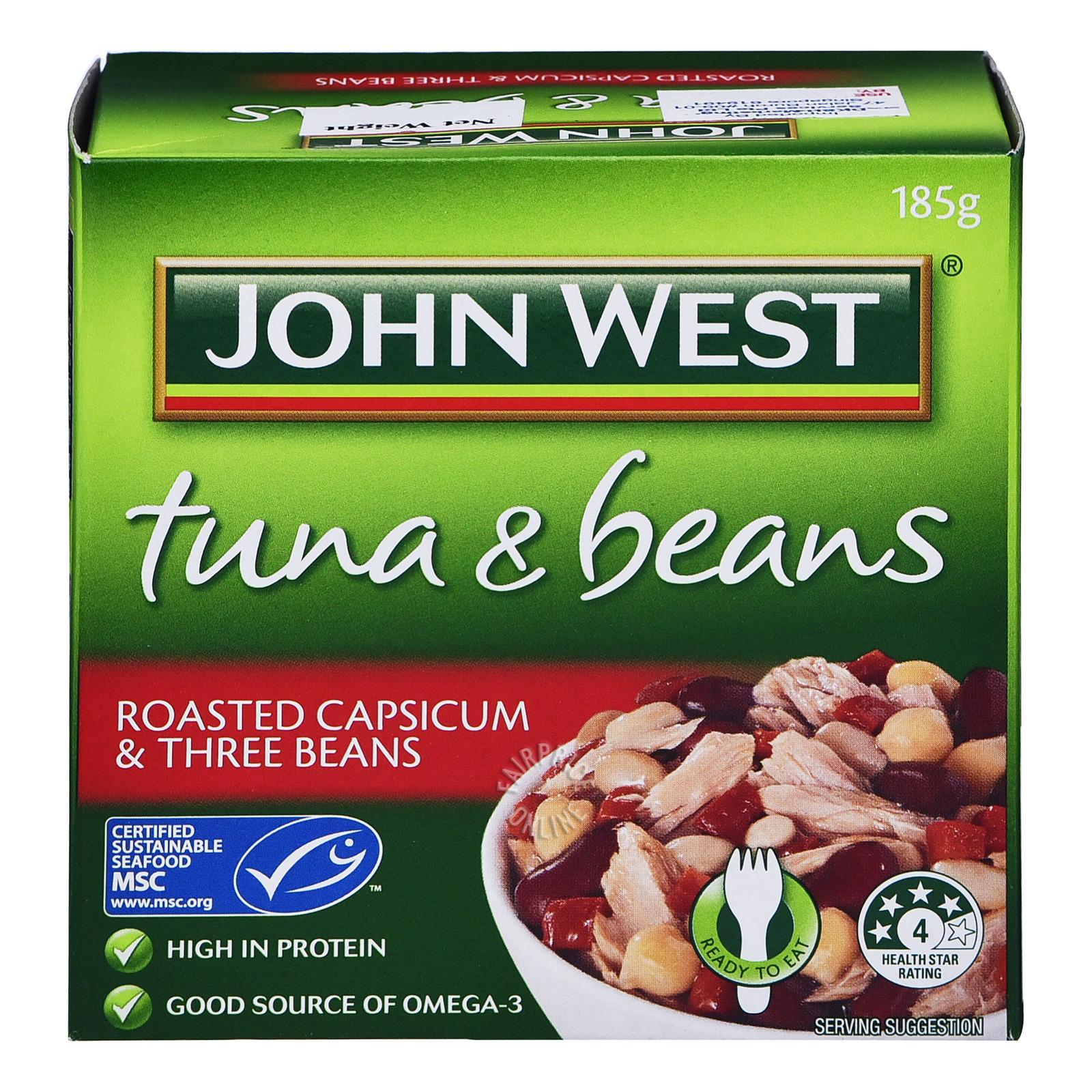 John West Tuna & Beans - Rosted Capsicum & Three Beans