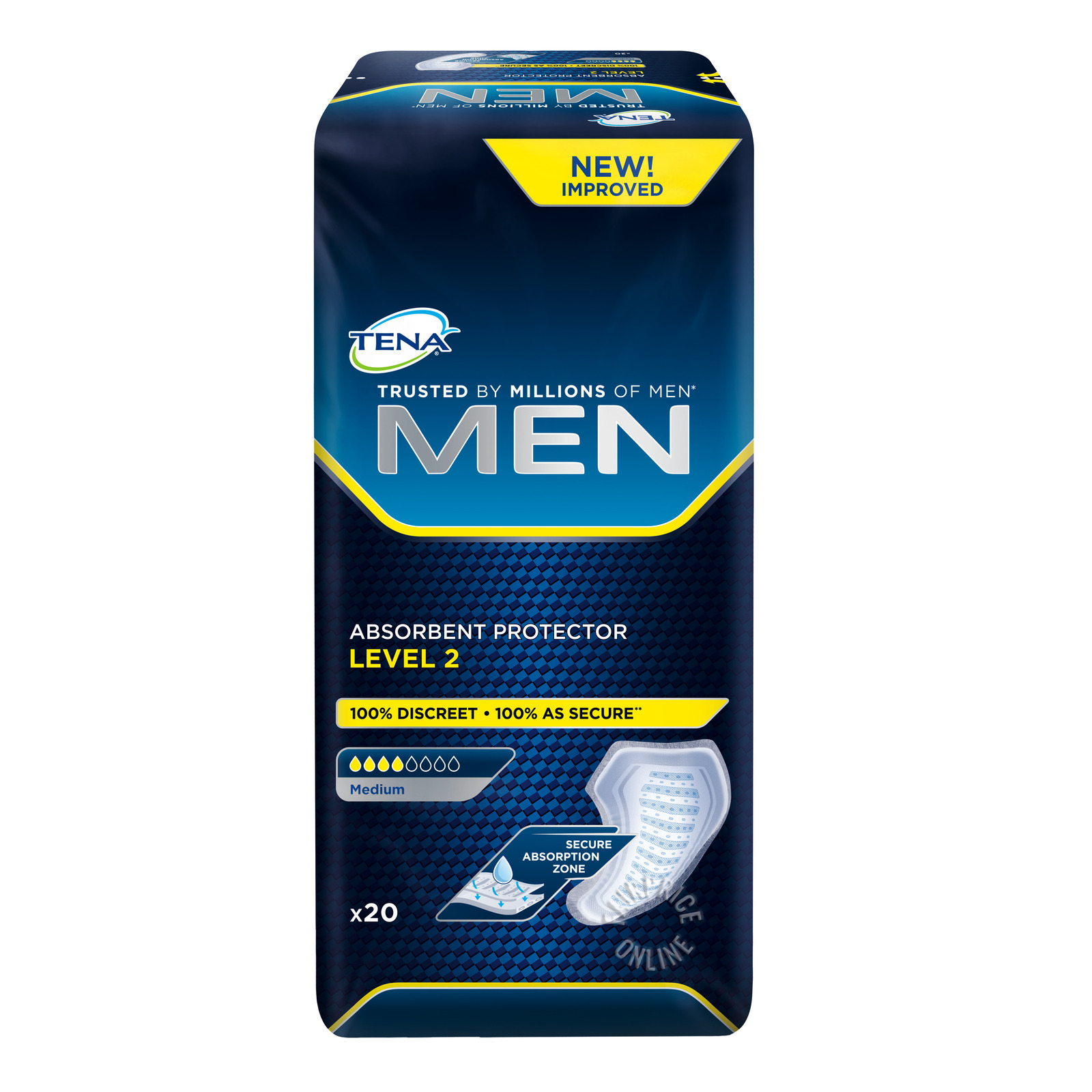 TENA Men Absorbant Protector Pads - Level 2 (M)