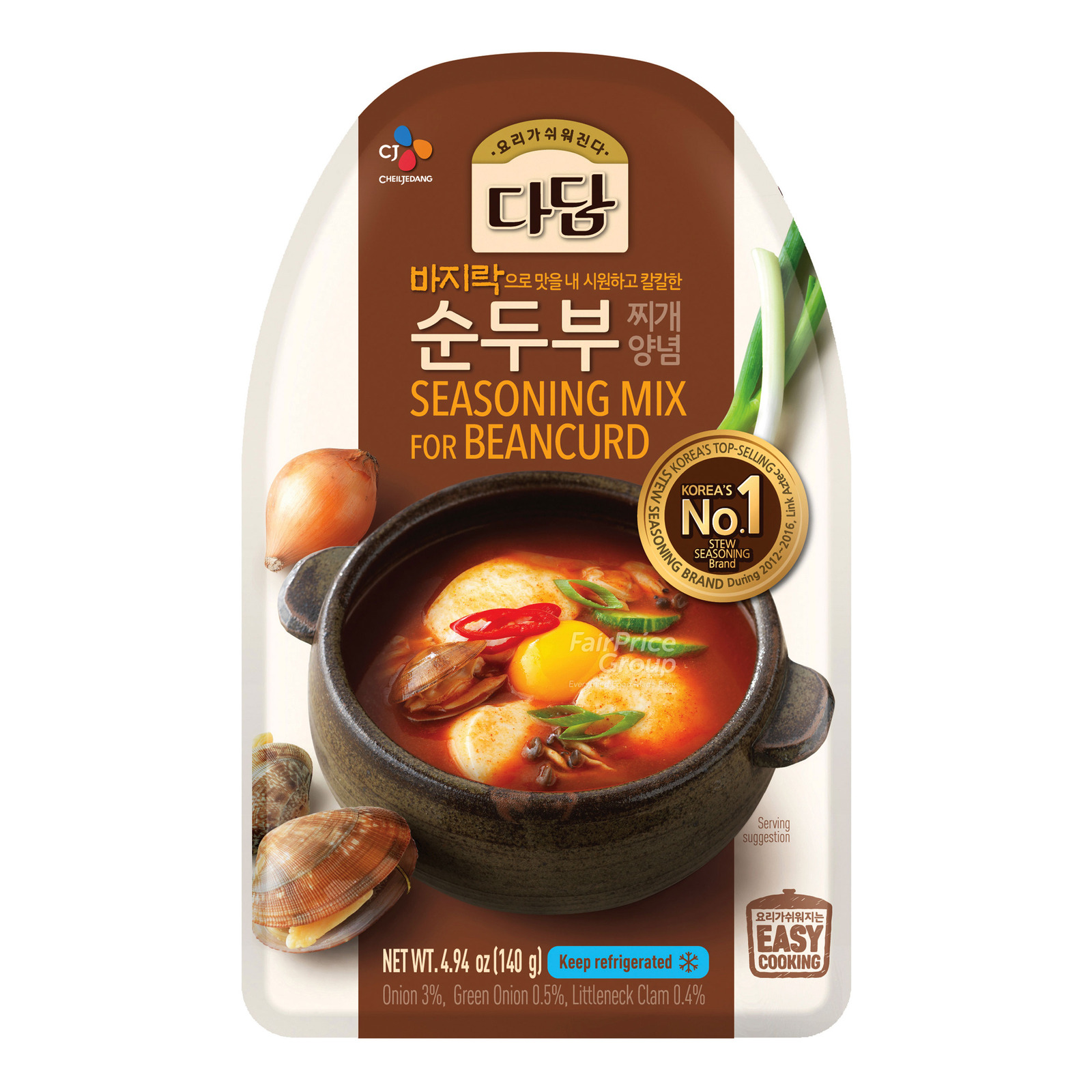 CJ Dadam Korean Stew Seasoning Paste - Clam Soup (Beancurd)