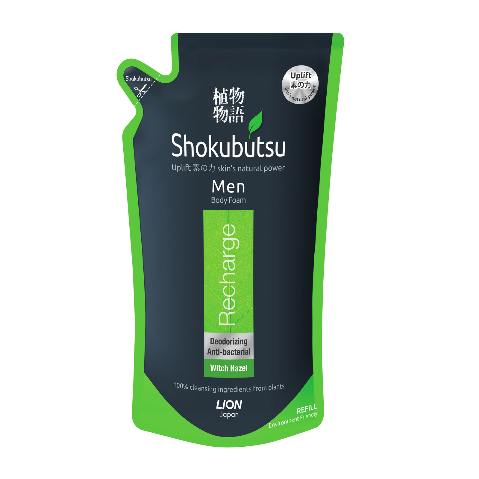 SHOKUBUTSU Men Body Foam Recharge 600ml Refill