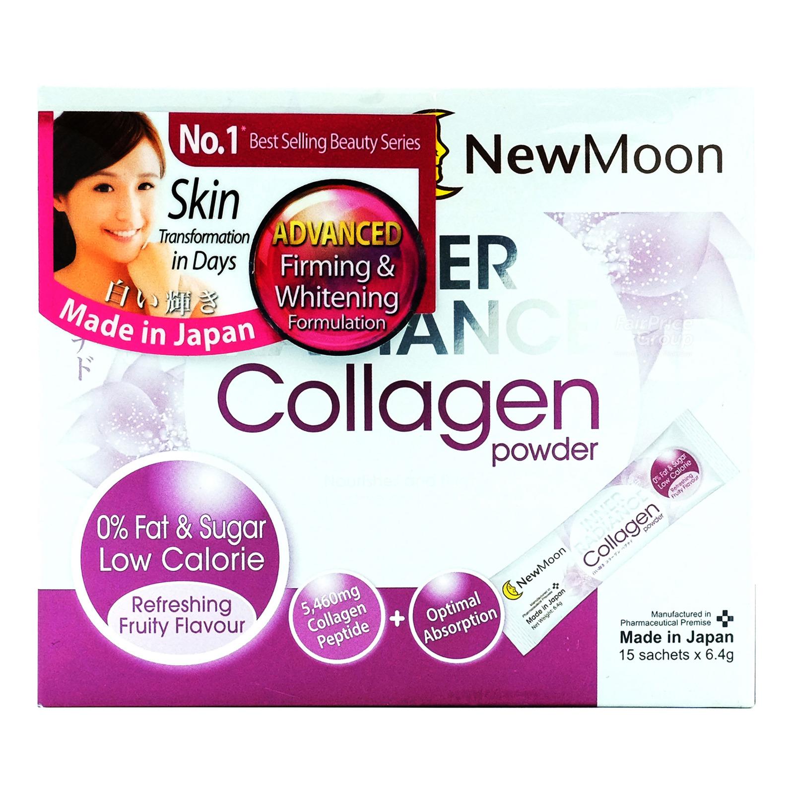 NEW MOON inner radiance collagen powder 15s free wmf 035ml flask