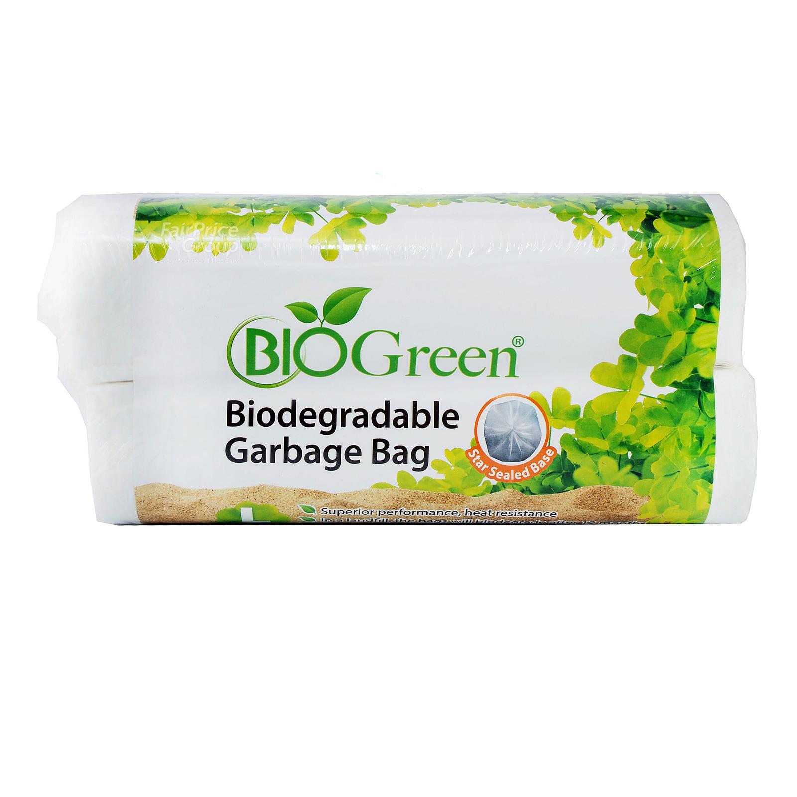 Bio Green Biodegradable Garbage Bag - L