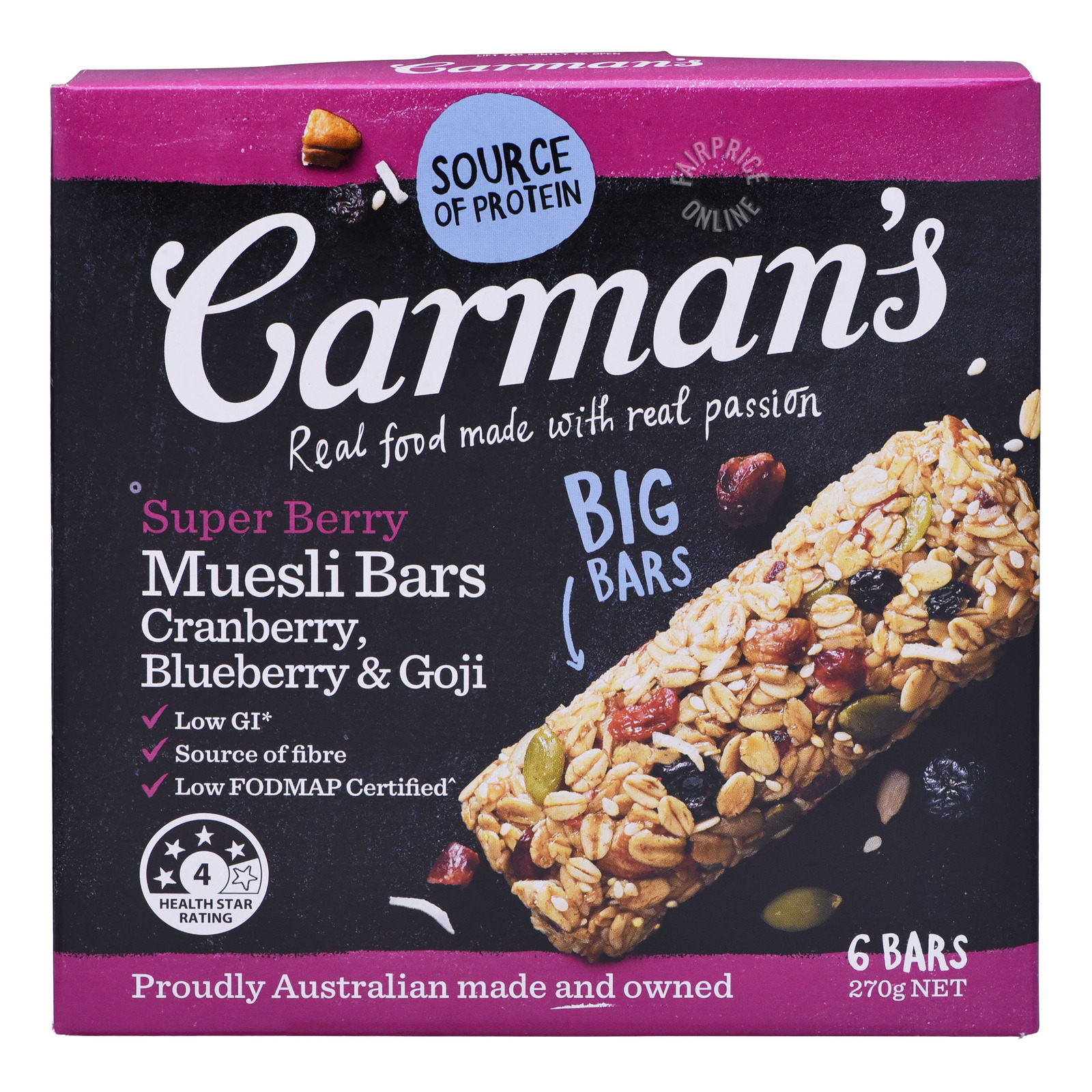 Carman's Muesli Bars - Super Berry