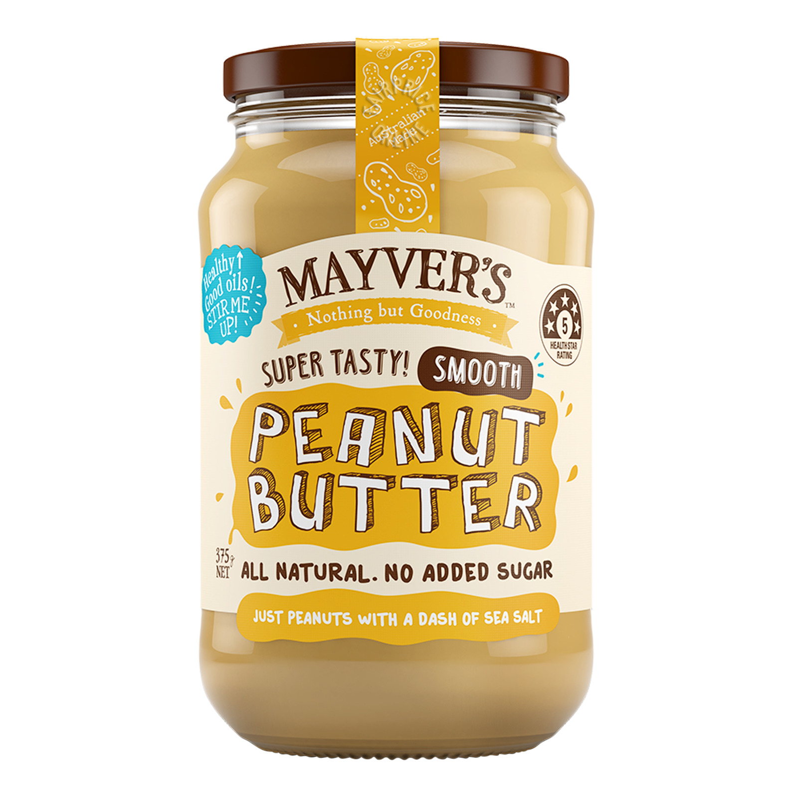 Mayver's All Natural Spread - Peanut Butter (Smooth)