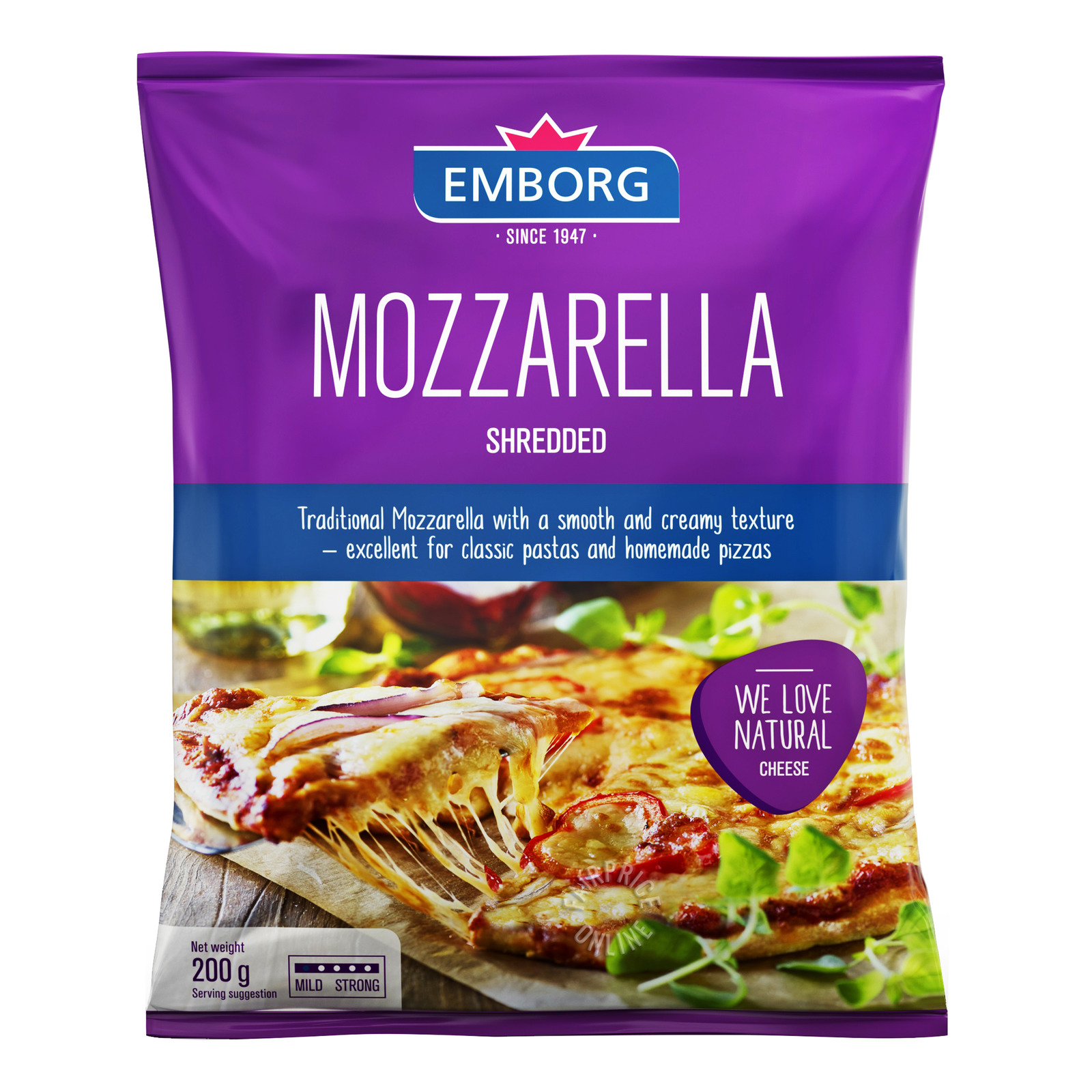 Emborg Shredded Cheese - Mozzarella
