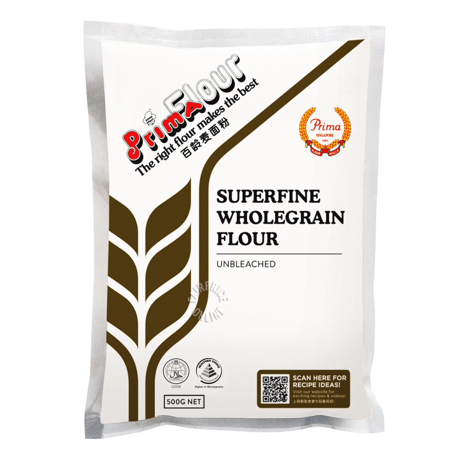 Prima Flour Packet Flour - Superfine Wholegrain (Unbleached)